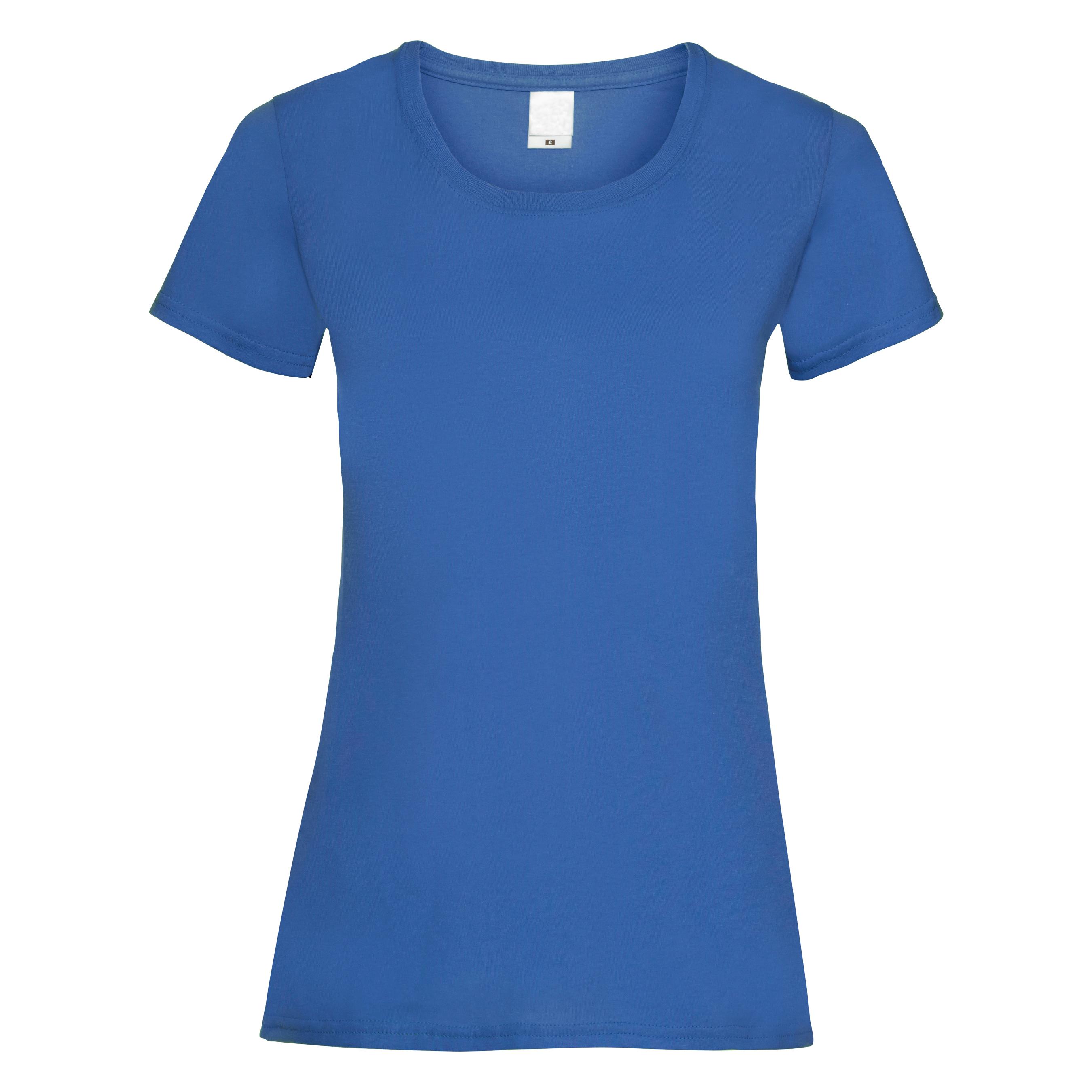 Womens/Ladies Value Fitted Short Sleeve Casual T-Shirt (Medium) (Midnight Blue)