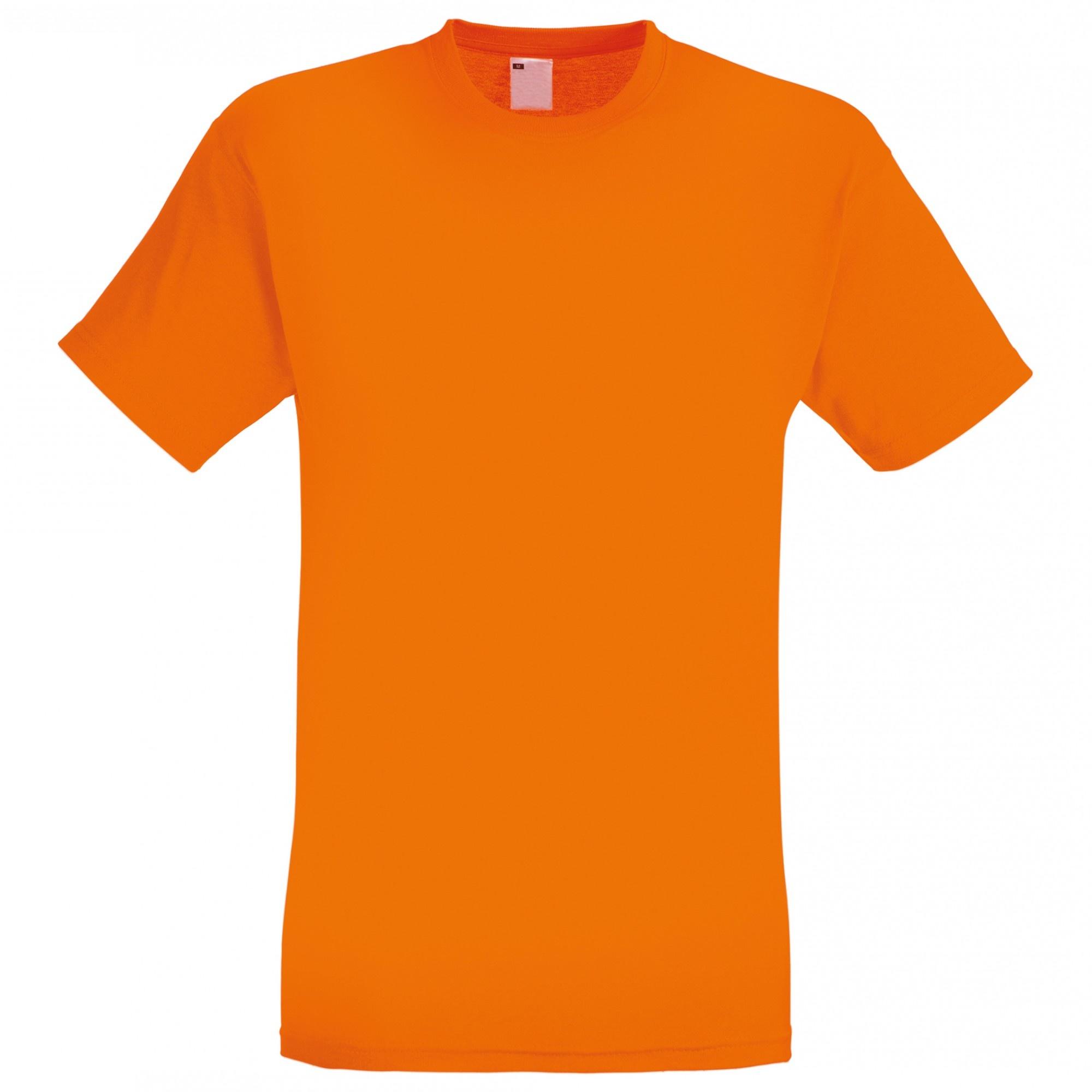 Mens Short Sleeve Casual T-Shirt (Small) (Bright Orange)
