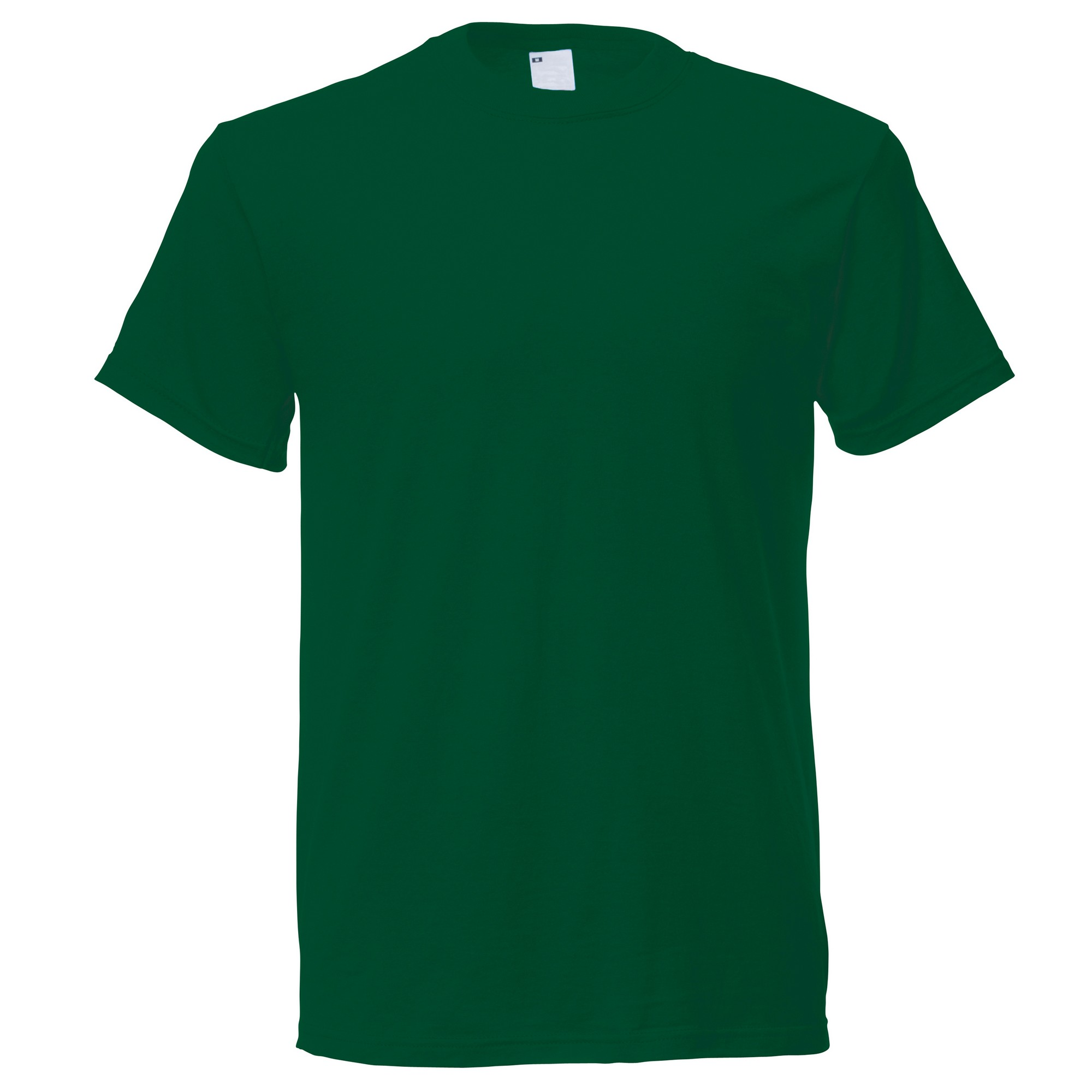 Mens Short Sleeve Casual T-Shirt (Medium) (Dark Green)