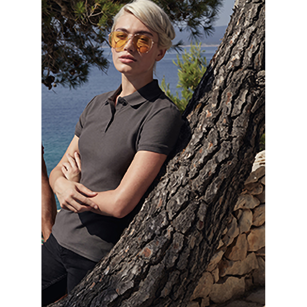 Womens/Ladies Fitted Short Sleeve Casual Polo Shirt (XX Large) (Cobalt)