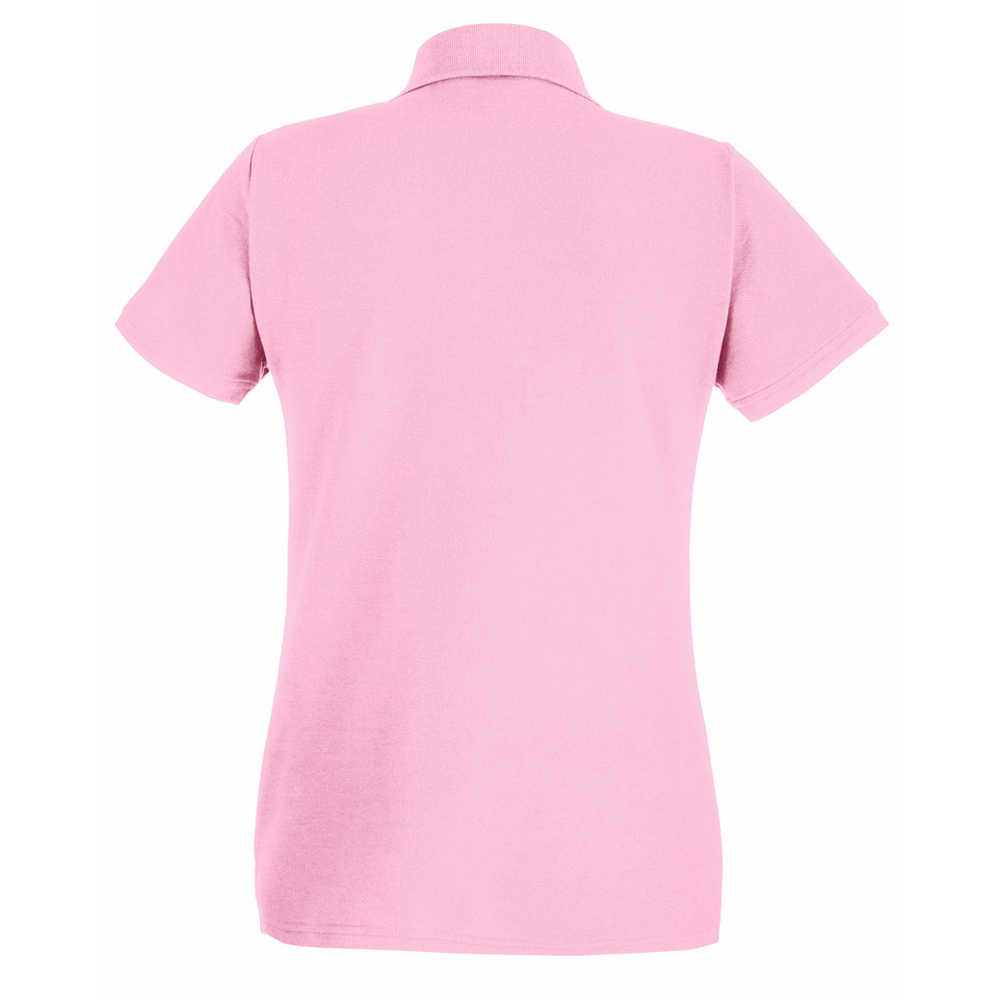 Womens-Ladies-Fitted-Short-Sleeve-Casual-Polo-Shirt-BC3906 thumbnail 4
