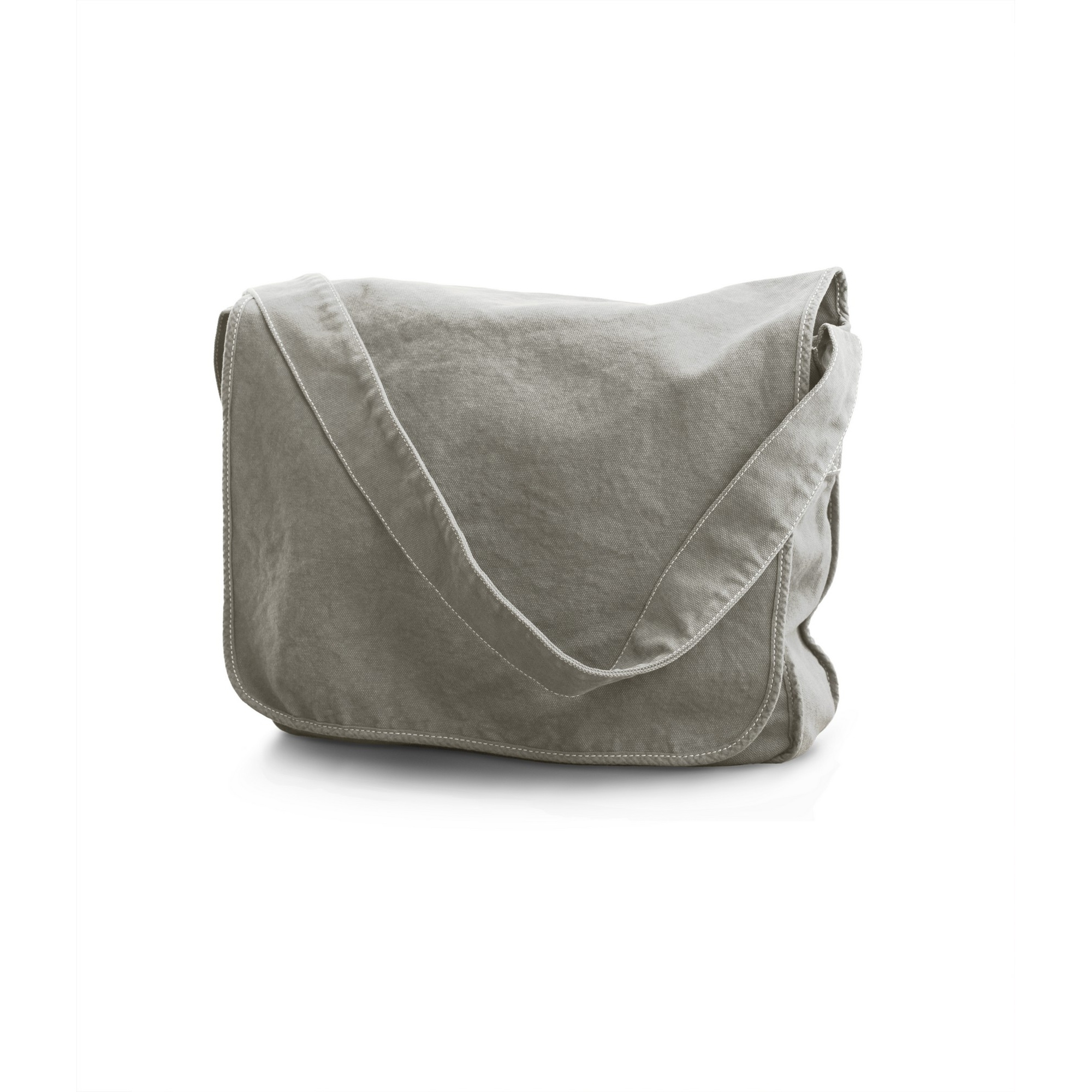 Bags By Jassz Canvas Messenger Bag (One Size) (Mid Grey)