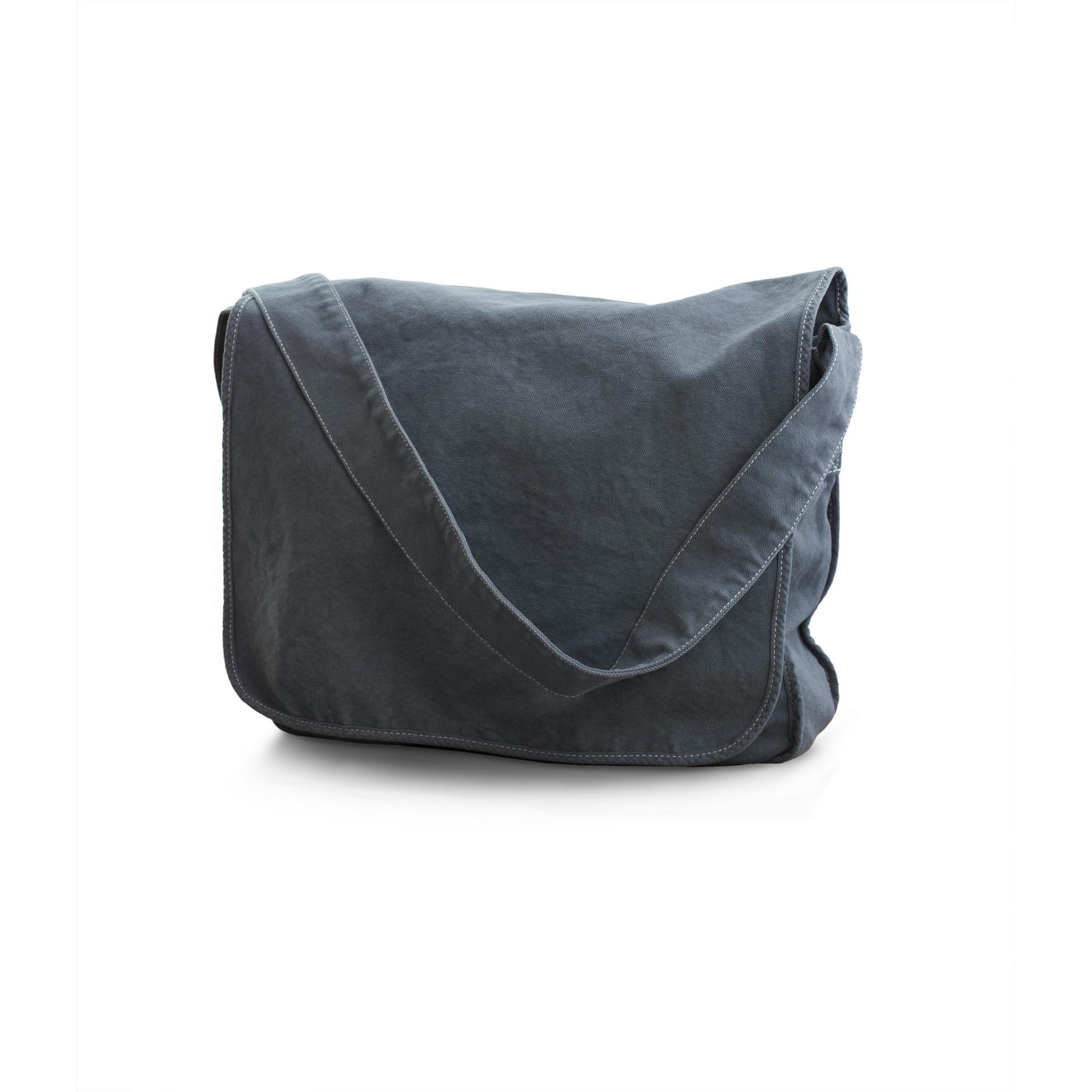 Bags By Jassz Canvas Messenger Bag (One Size) (Denim Blue)