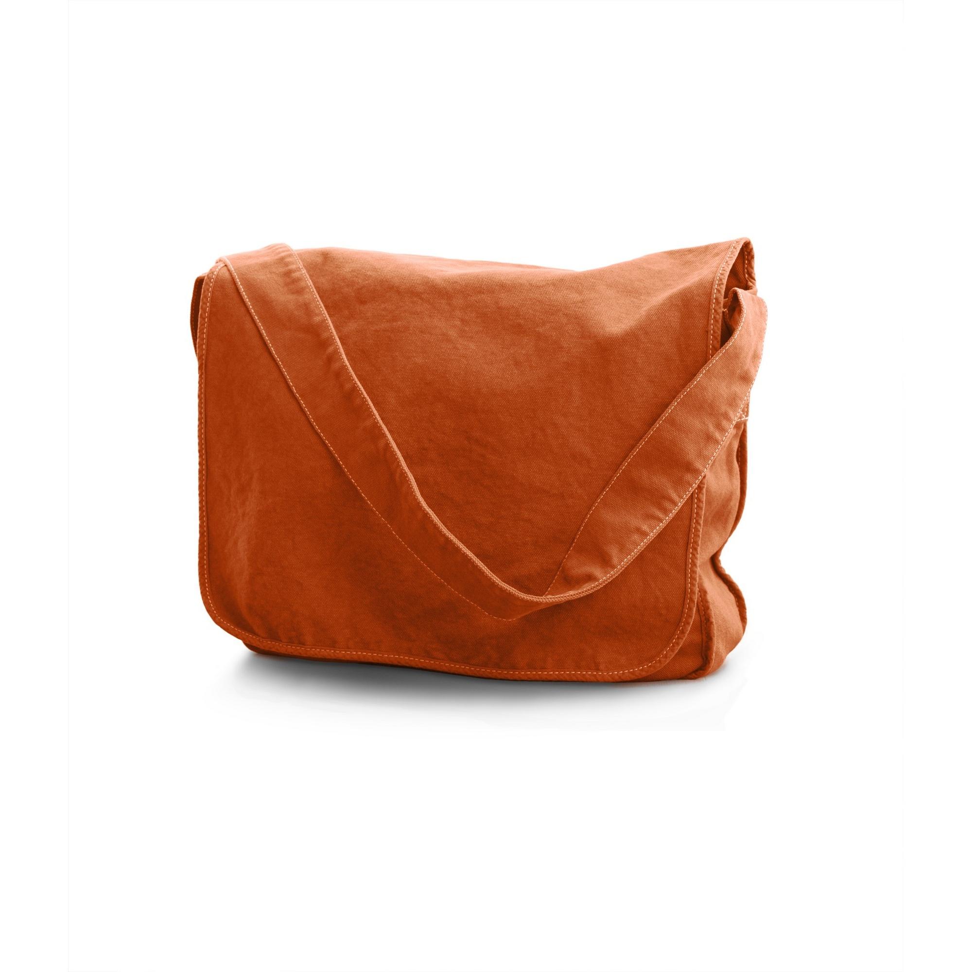Bags By Jassz Canvas Messenger Bag (One Size) (Canadian Autumn Maple)
