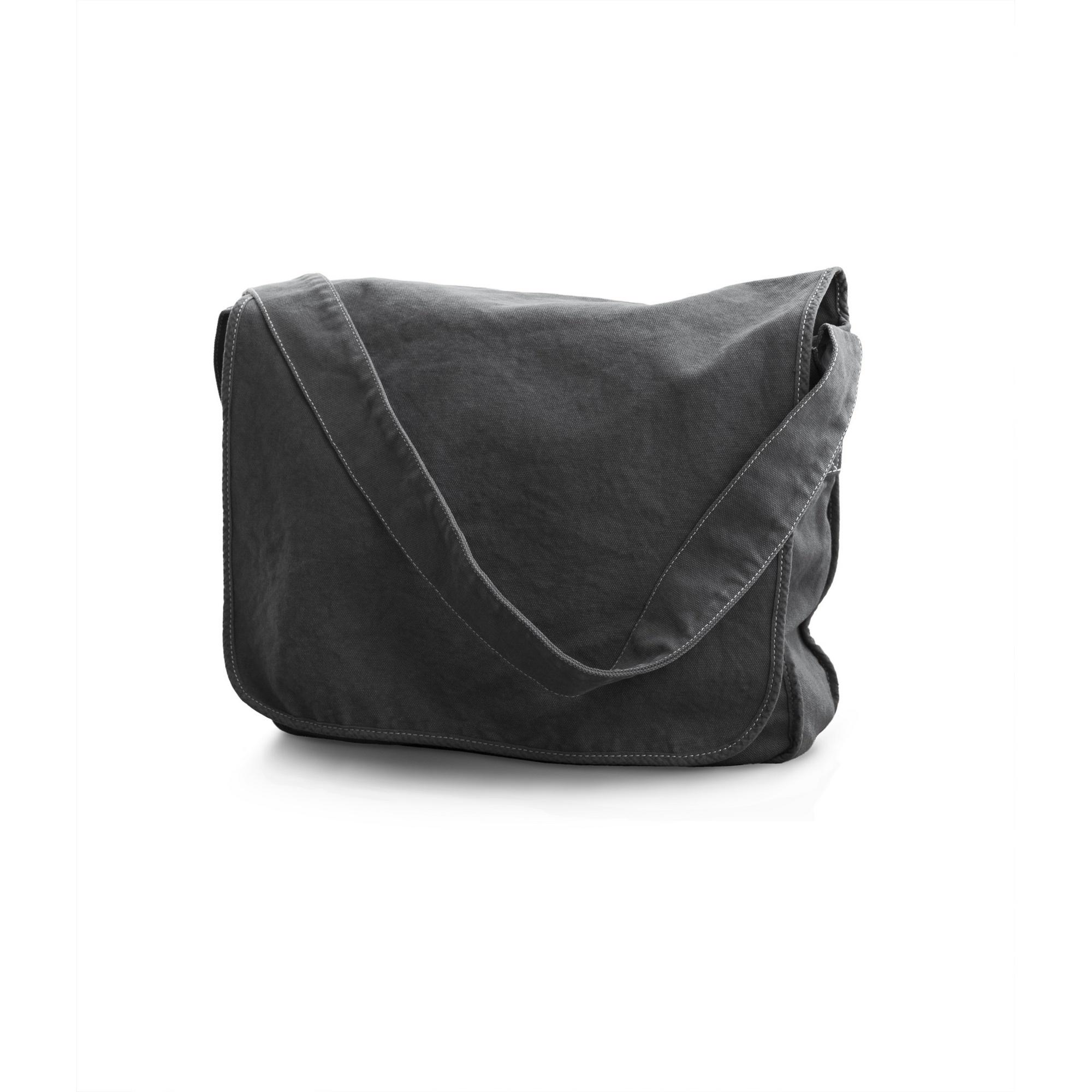 Bags By Jassz Canvas Messenger Bag (One Size) (Pepper Grey)