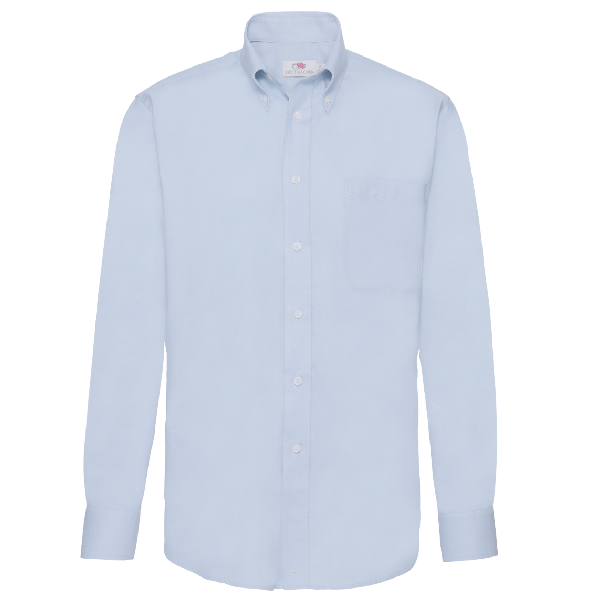 Fruit Of The Loom Mens Long Sleeve Oxford Shirt (L) (Oxford Blue)