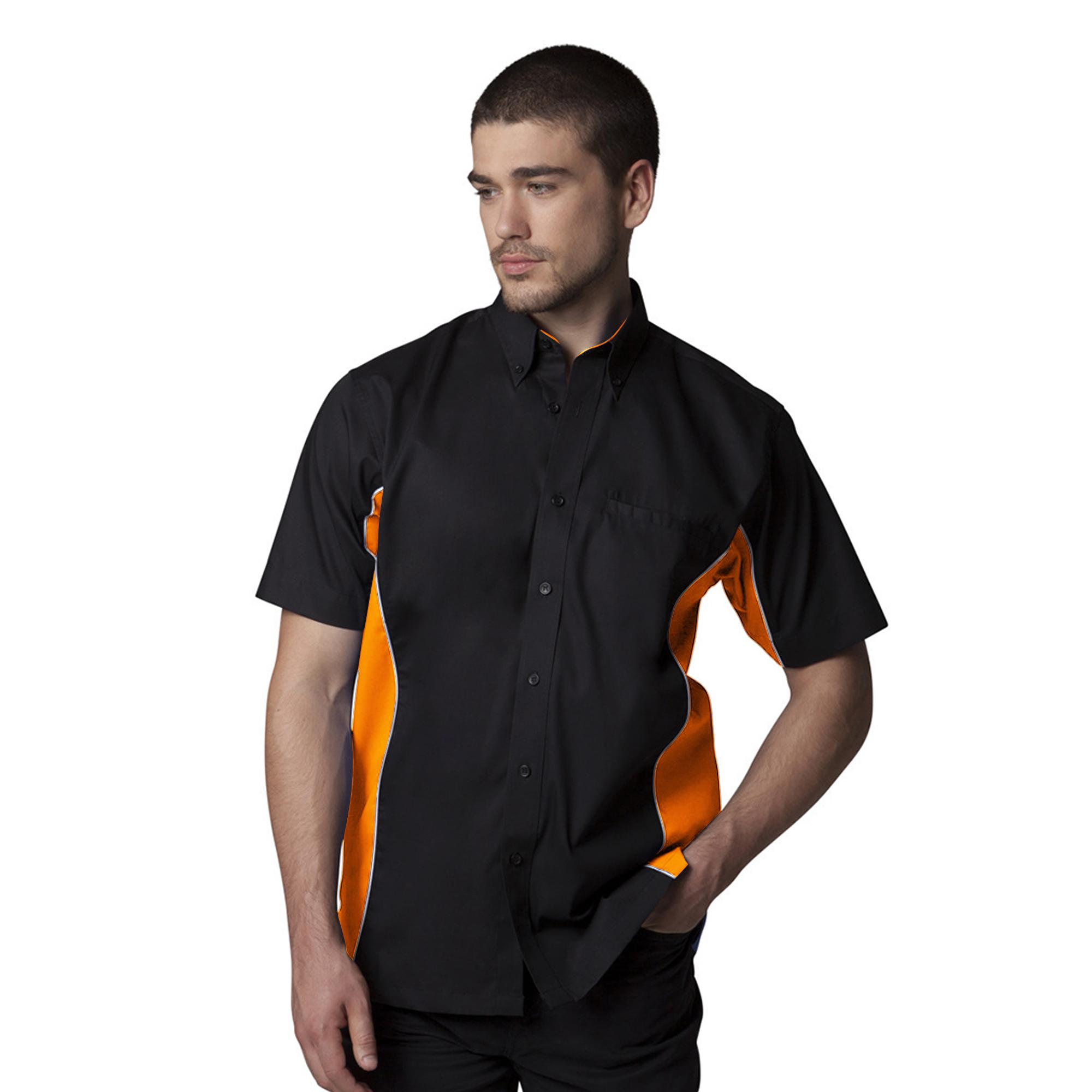 Gamegear Mens Sportsman Short Sleeve Shirt / Mens Sportswear (S) (Black/Red/White)