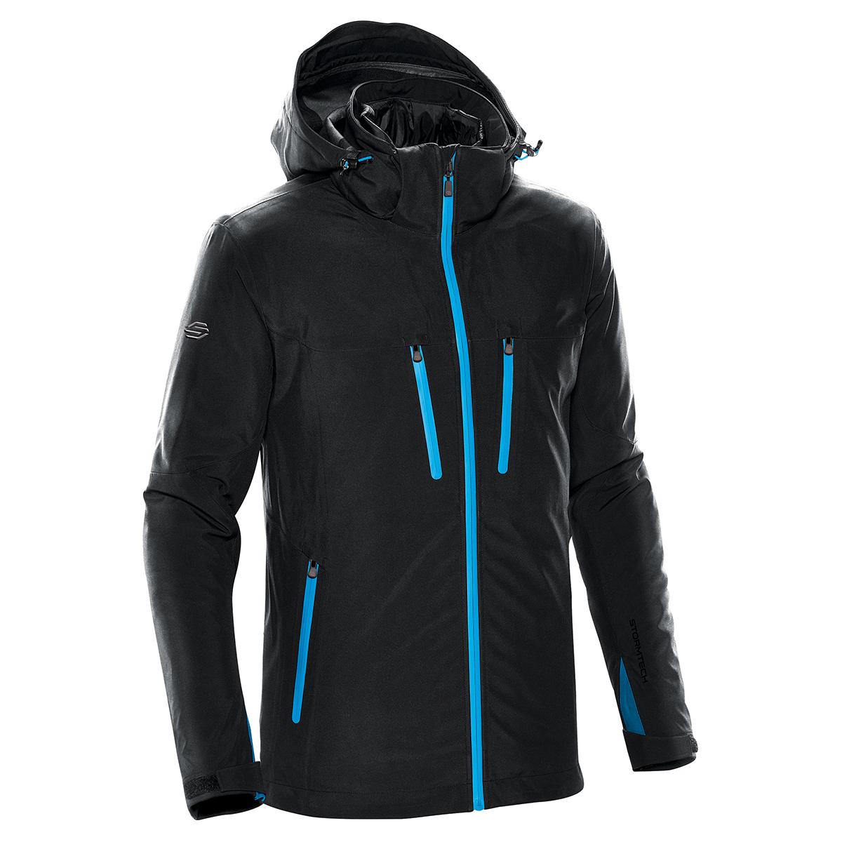 Stormtech Mens Matrix System Jacket (M) (Black/Electric Blue)