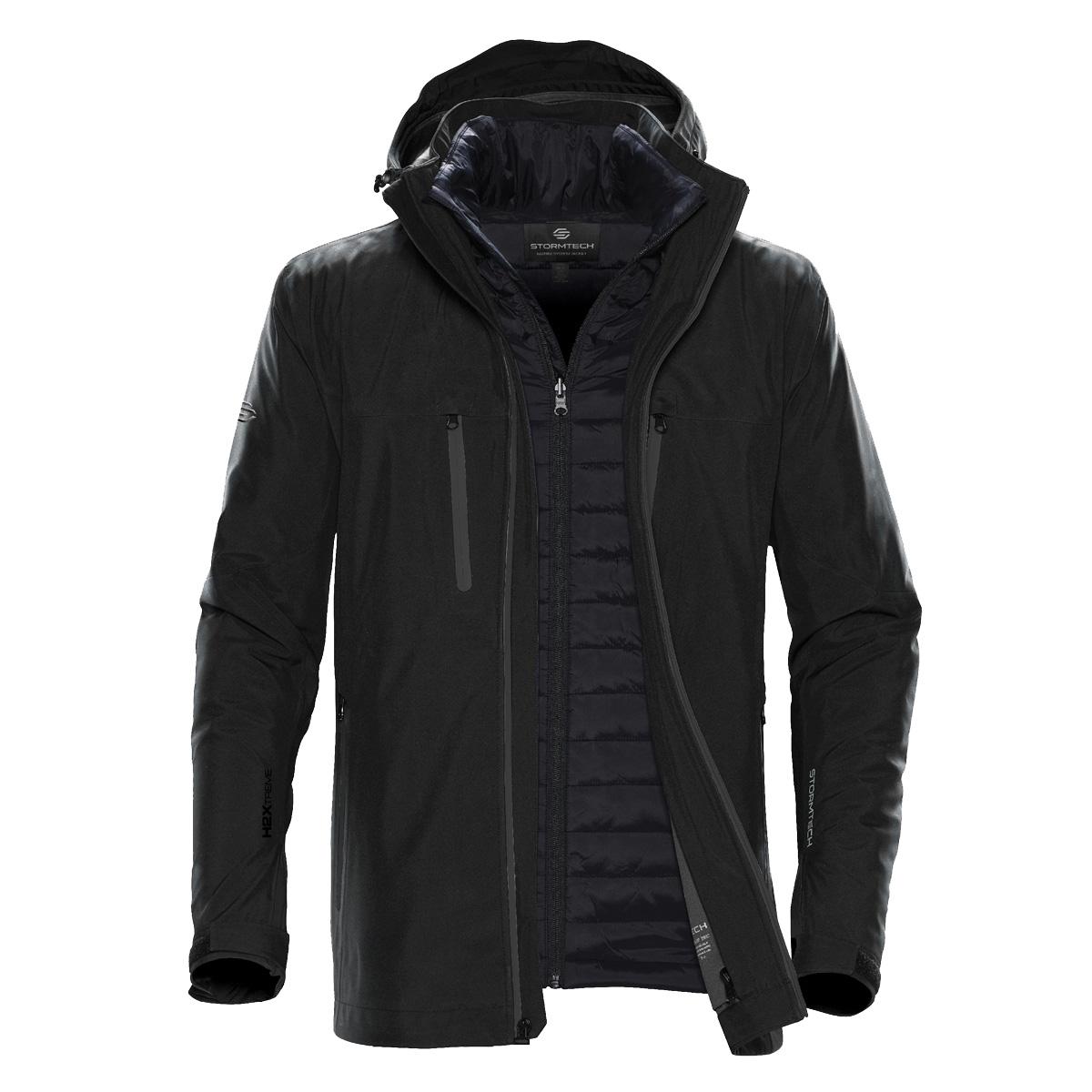Stormtech Mens Matrix System Jacket (2XL) (Black/Bright Red)