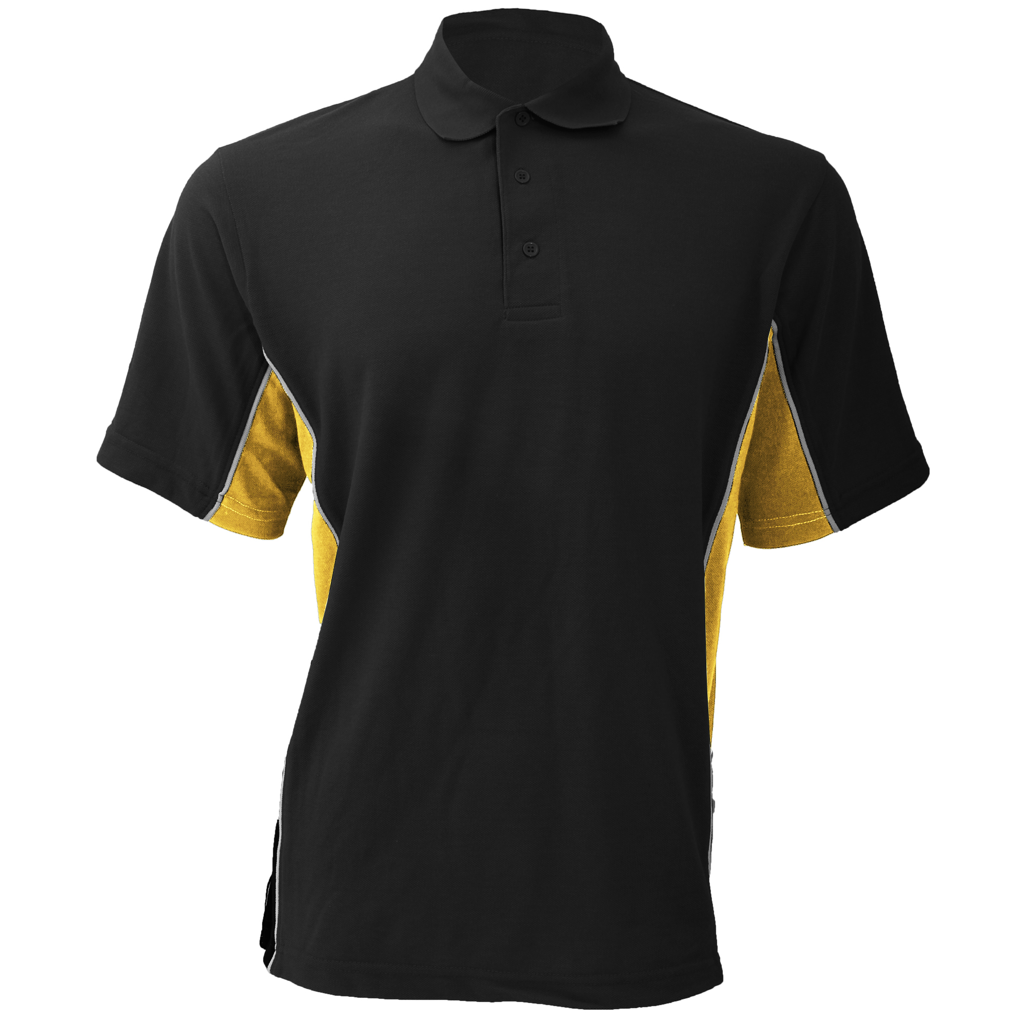 Gamegear® Mens Track Pique Short Sleeve Polo Shirt Top (XL) (Navy/ Turqoise)