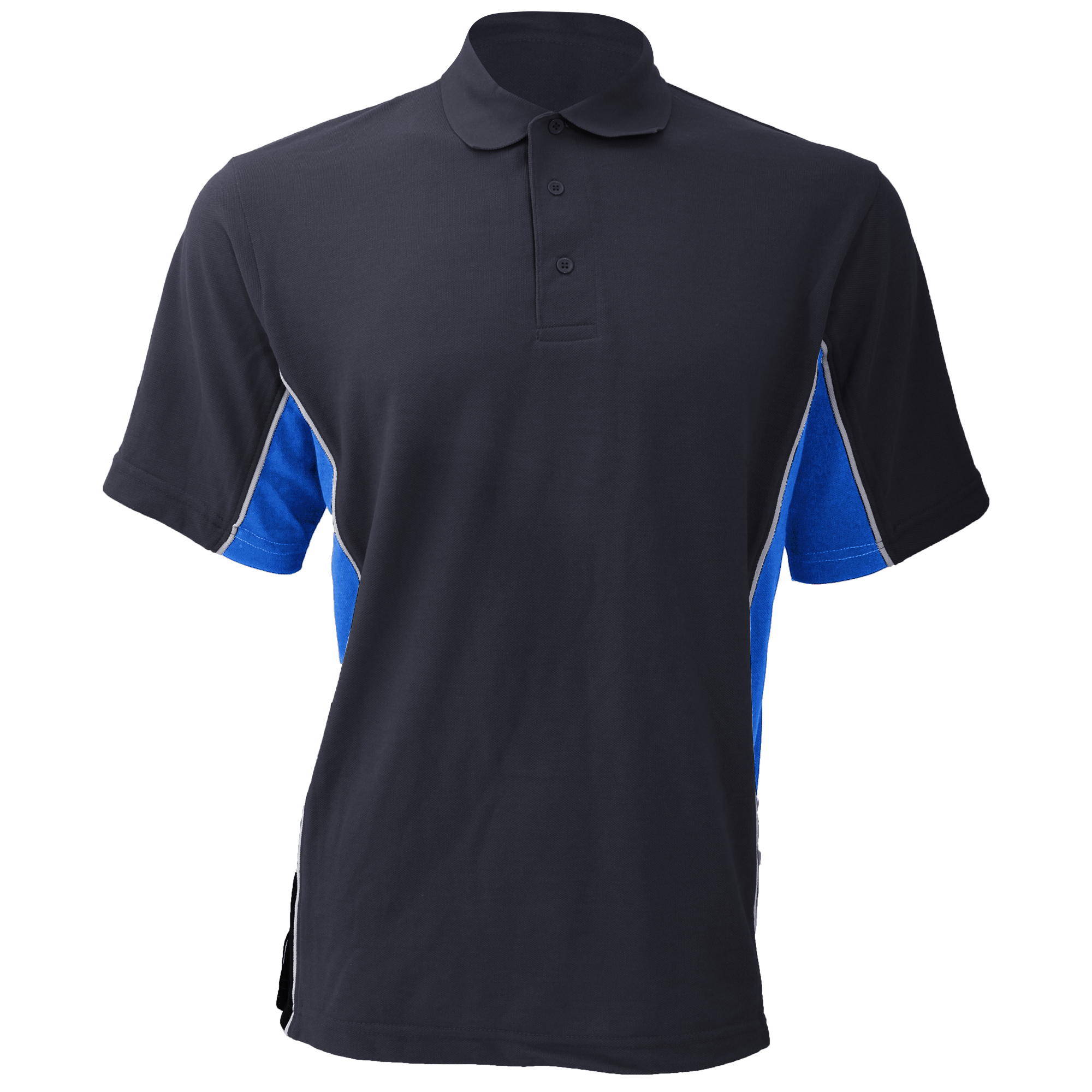 Gamegear® Mens Track Pique Short Sleeve Polo Shirt Top (2XL) (Red/Black/White)