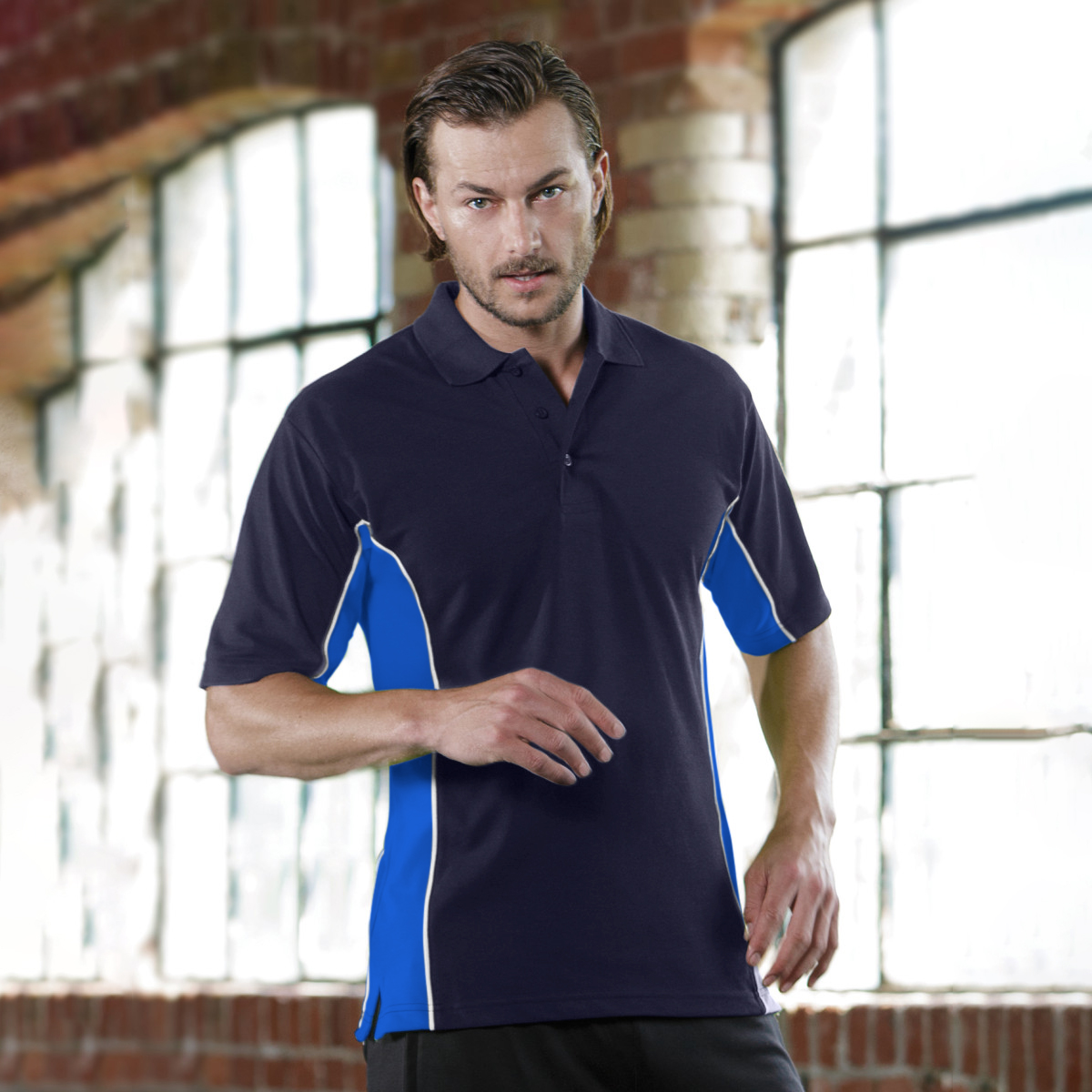 Gamegear® Mens Track Pique Short Sleeve Polo Shirt Top (L) (Orange/Graphite/White)