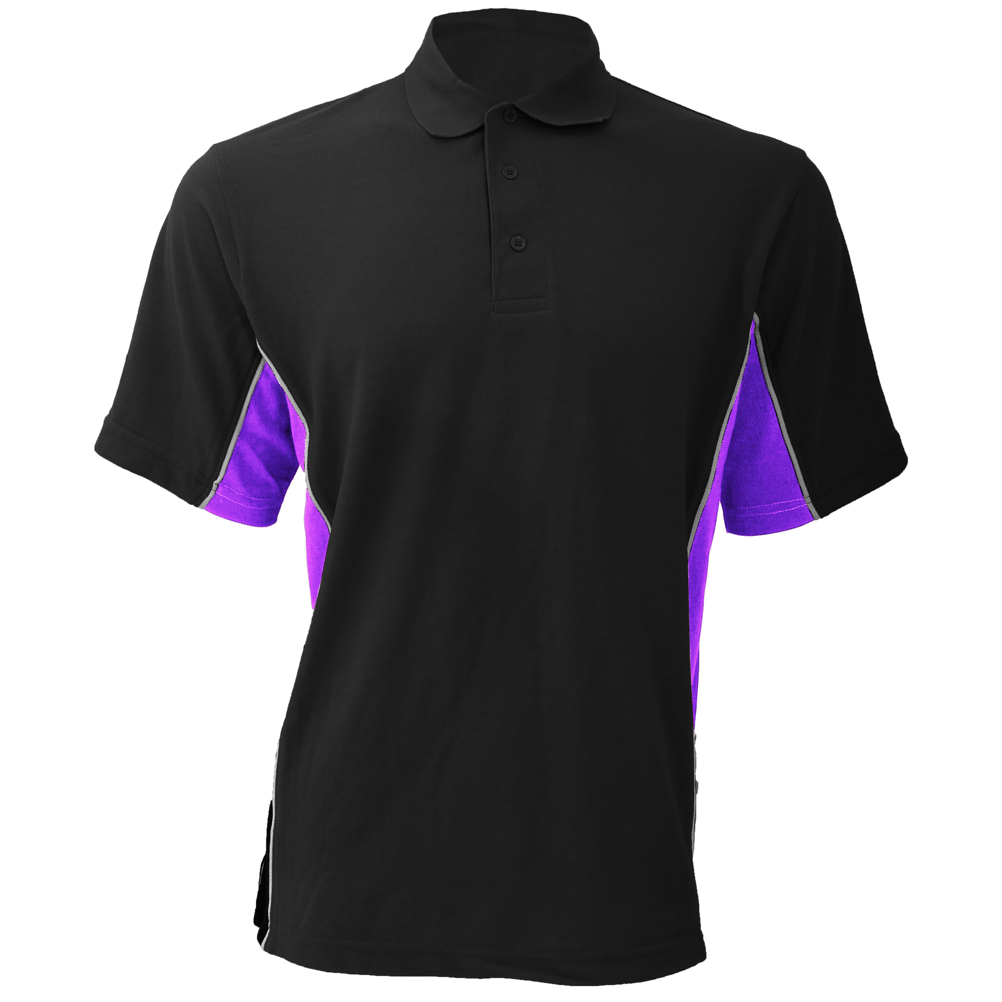 Gamegear® Mens Track Pique Short Sleeve Polo Shirt Top (M) (Black/Royal/White)