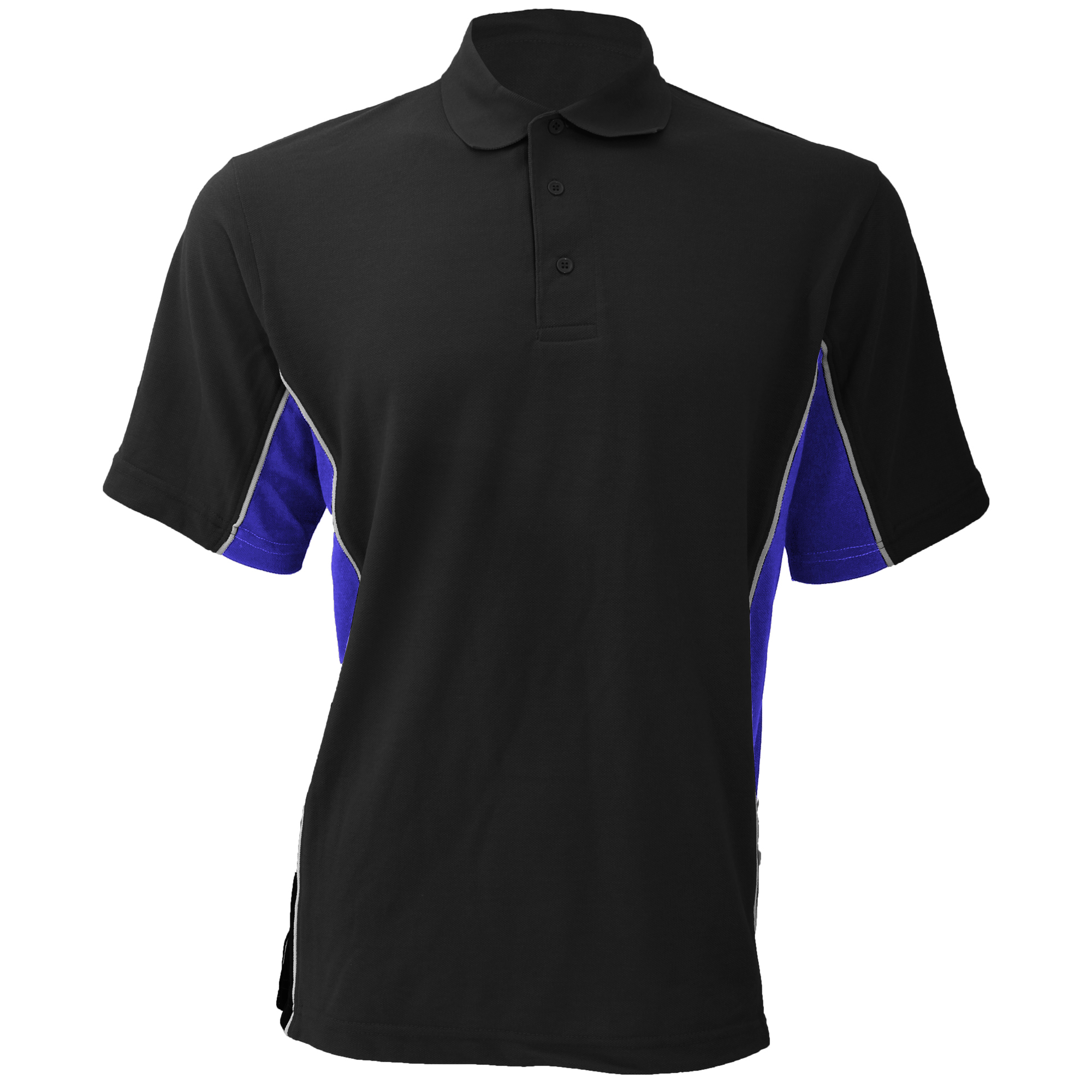 Gamegear® Mens Track Pique Short Sleeve Polo Shirt Top (M) (Black/Sun Yellow/White)