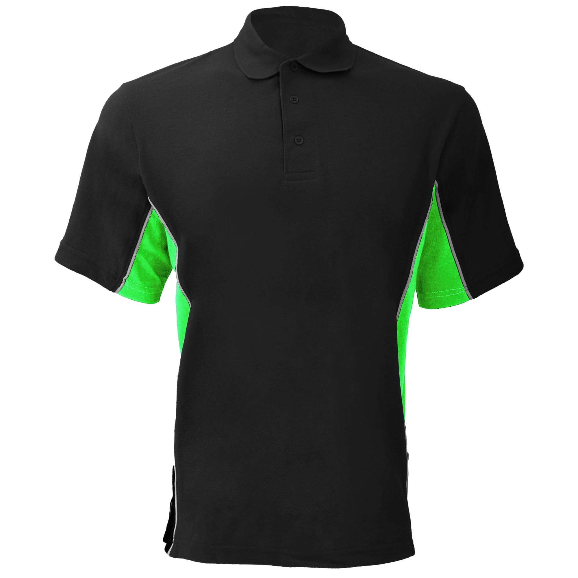 Gamegear® Mens Track Pique Short Sleeve Polo Shirt Top (S) (Navy/Light Blue/White)