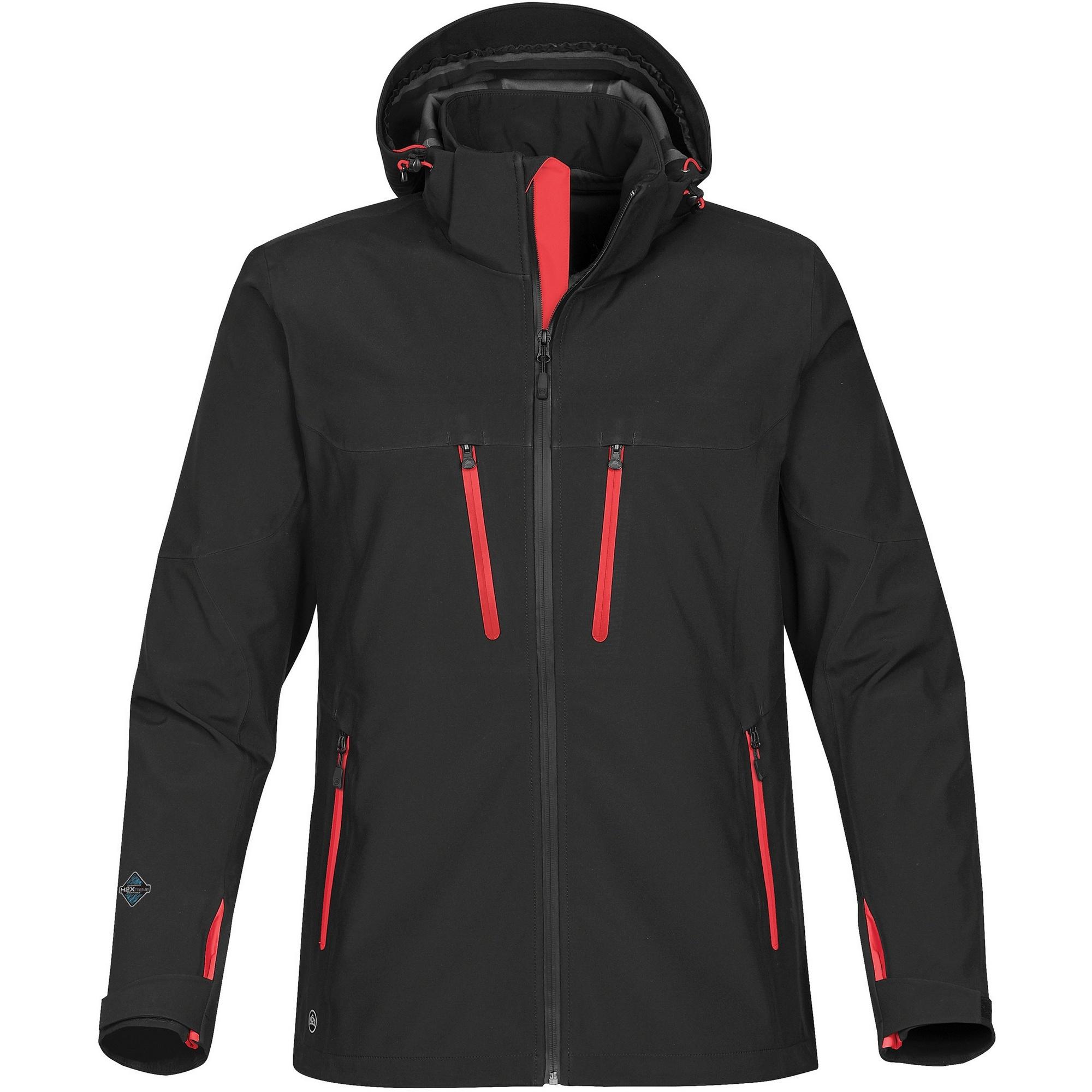 Stormtech Mens Patrol Softshell Jacket (L) (Black/Bright Red)