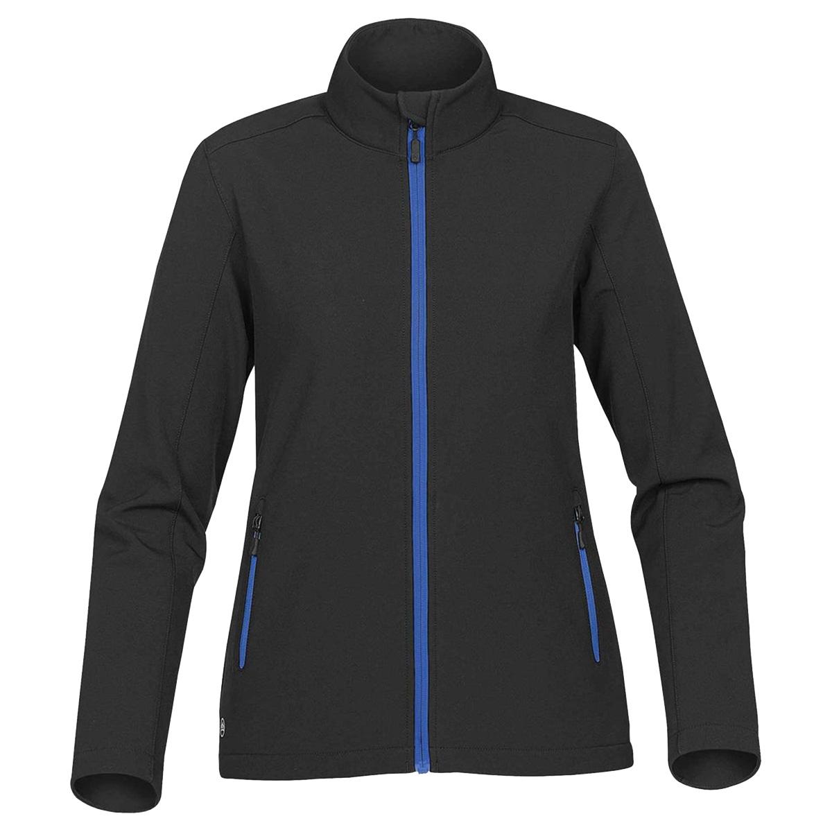 Stormtech Womens/Ladies Orbiter Softshell Jacket (XL) (Black/ Azure Blue)