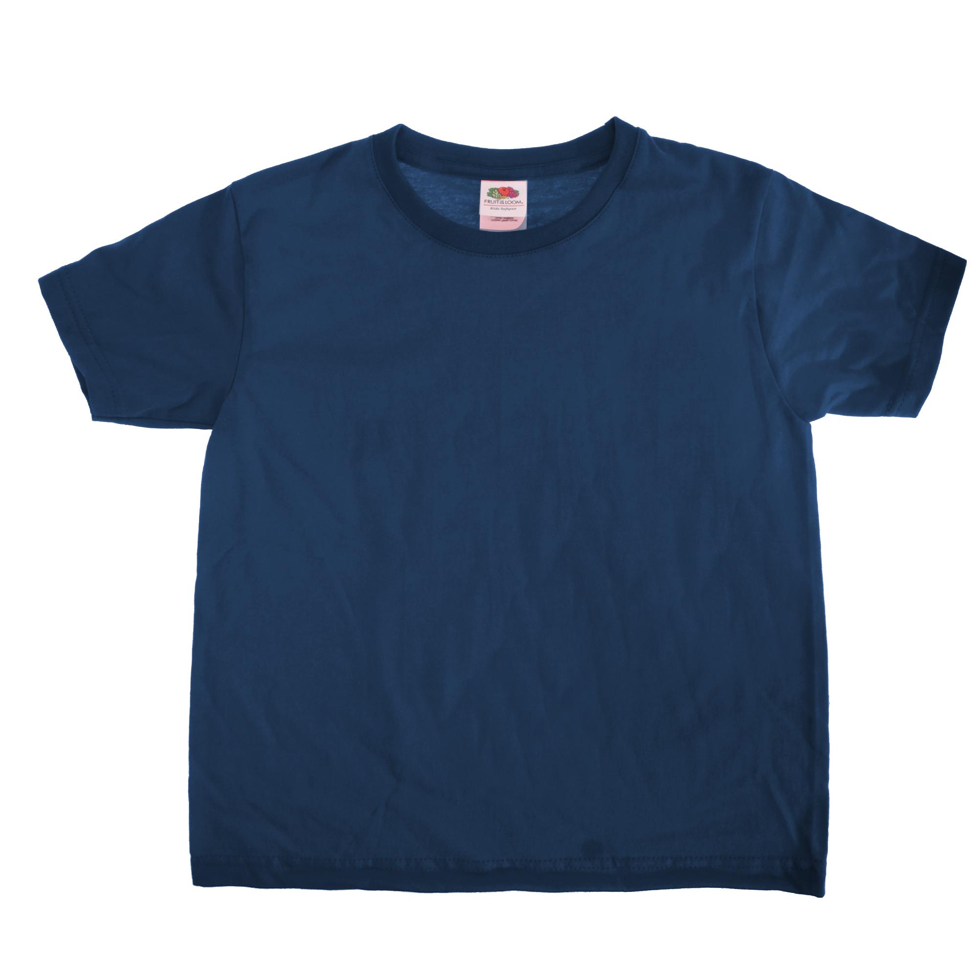 Fruit-Of-The-Loom-Kids-Sofspun-Short-Sleeve-T-Shirt-Pack-of-2-BC4273 thumbnail 20