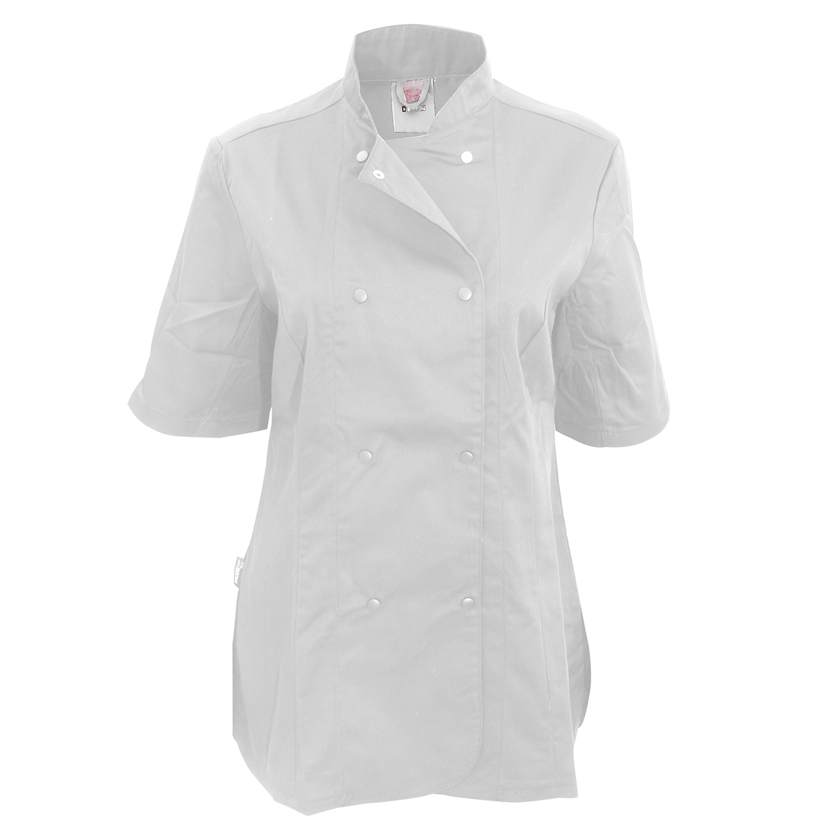 Dennys Womens/Ladies Short Sleeve Fitted Chef Jacket (Pack of 2) (XS) (White)
