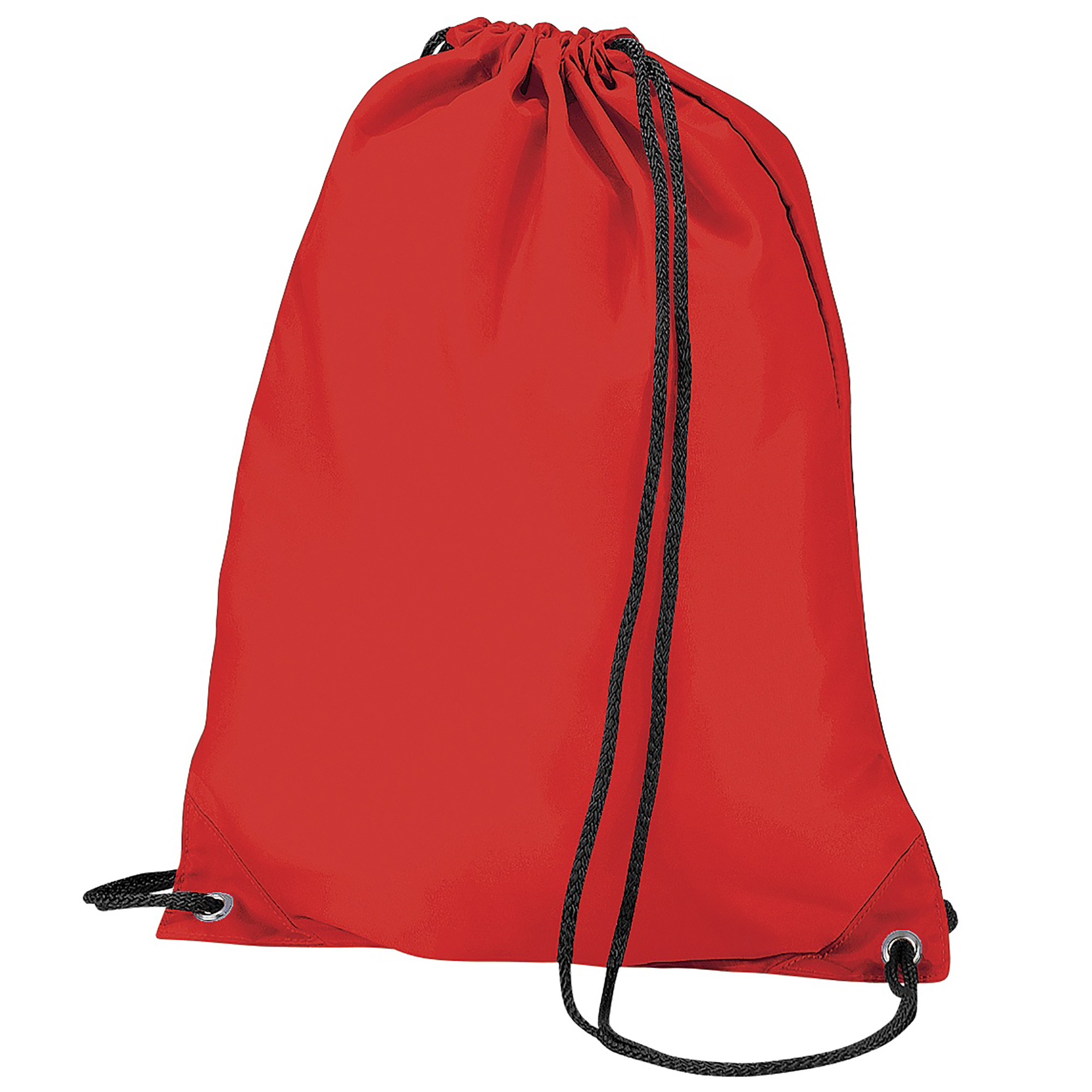 BagBase Budget Water Resistant Sports Gymsac Drawstring Bag (11 Litres) (Pack of 2) (One Size) (Red)