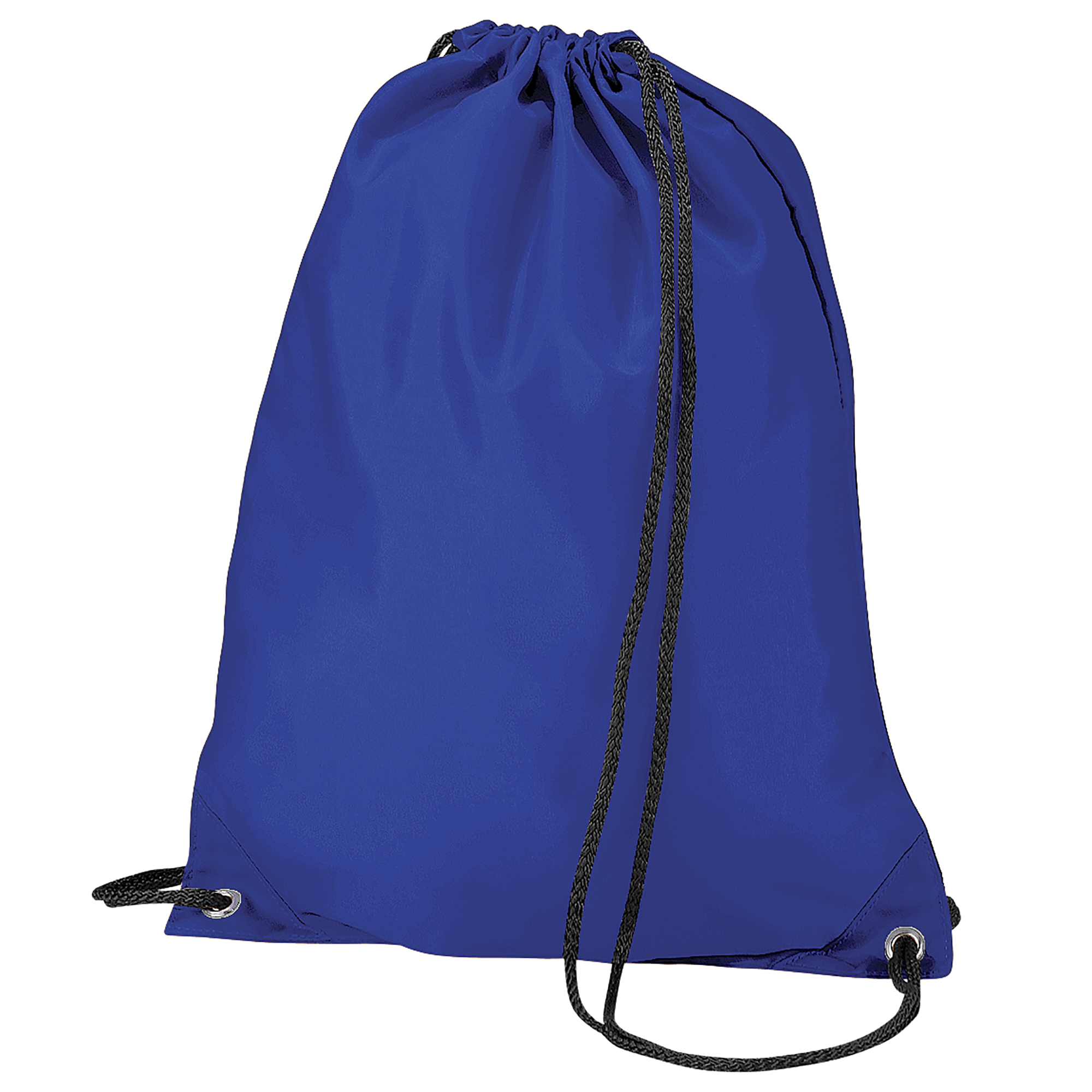 BagBase Budget Water Resistant Sports Gymsac Drawstring Bag (11 Litres) (Pack of 2) (One Size) (Royal)