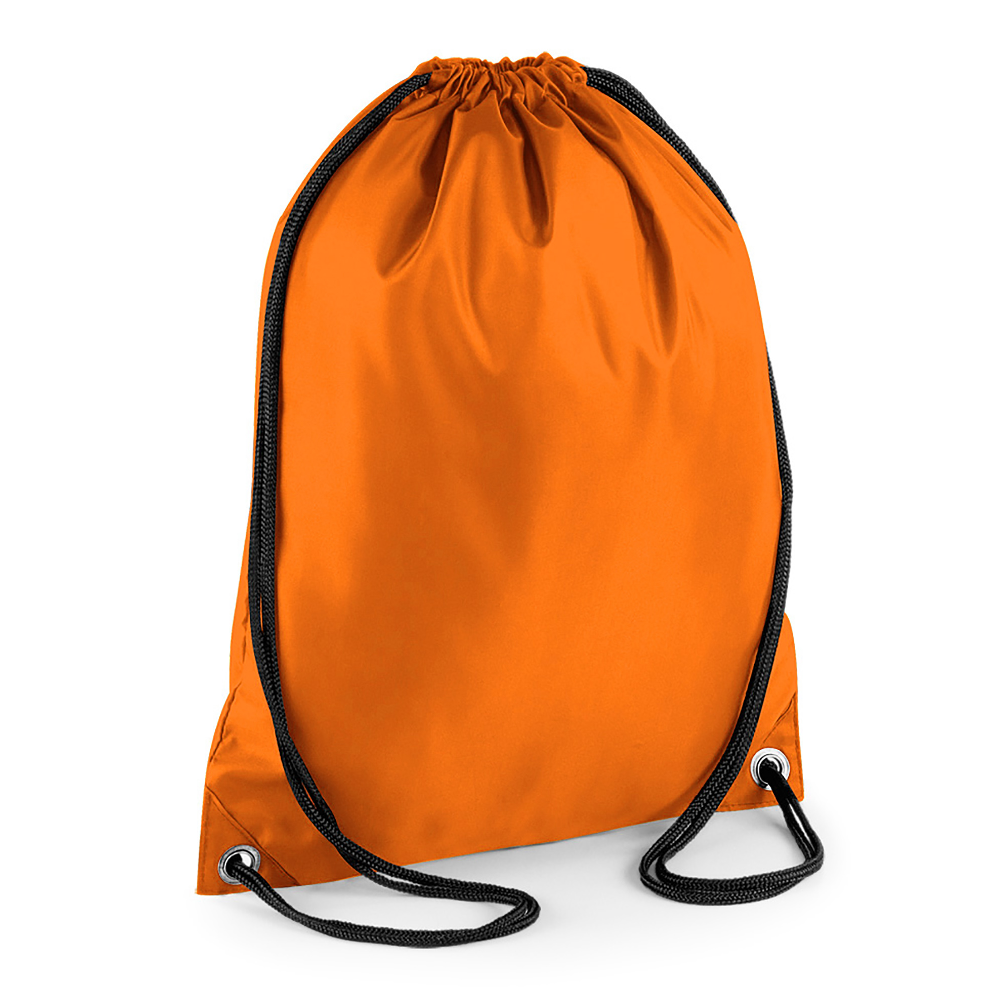 BagBase Budget Water Resistant Sports Gymsac Drawstring Bag (11 Litres) (Pack of 2) (One Size) (Orange)