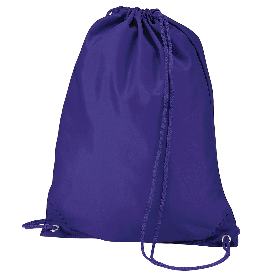 Quadra Gymsac Shoulder Carry Bag - 7 Litres (Pack of 2) (One Size) (Purple)