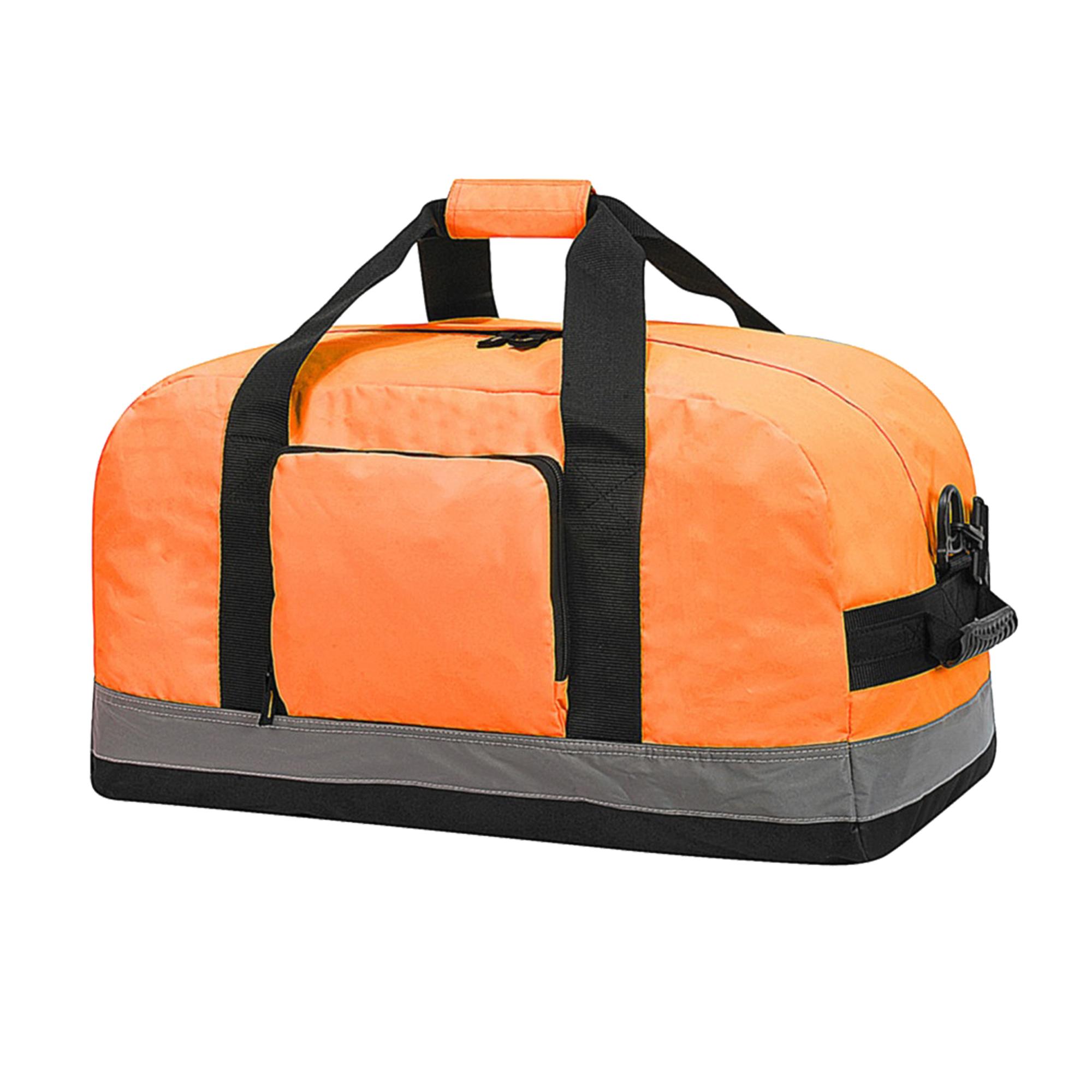Shugon Seattle Workwear Hi-Vis Holdall / Duffle Bag - 50 Litres (Pack of 2) (One Size) (Hi Vis Orange)