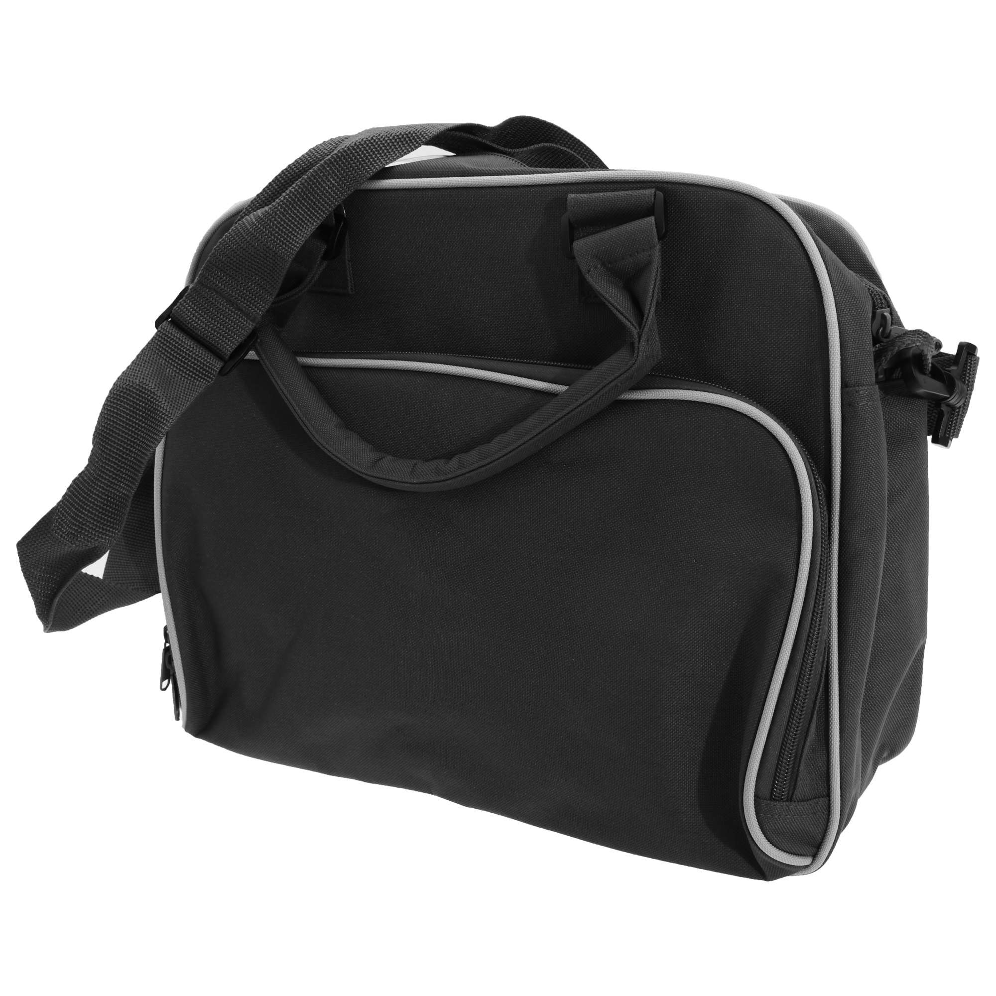 Bagbase Compact Junior Dance Messenger Bag (15 Litres) (Pack of 2) (One Size) (Black/White)