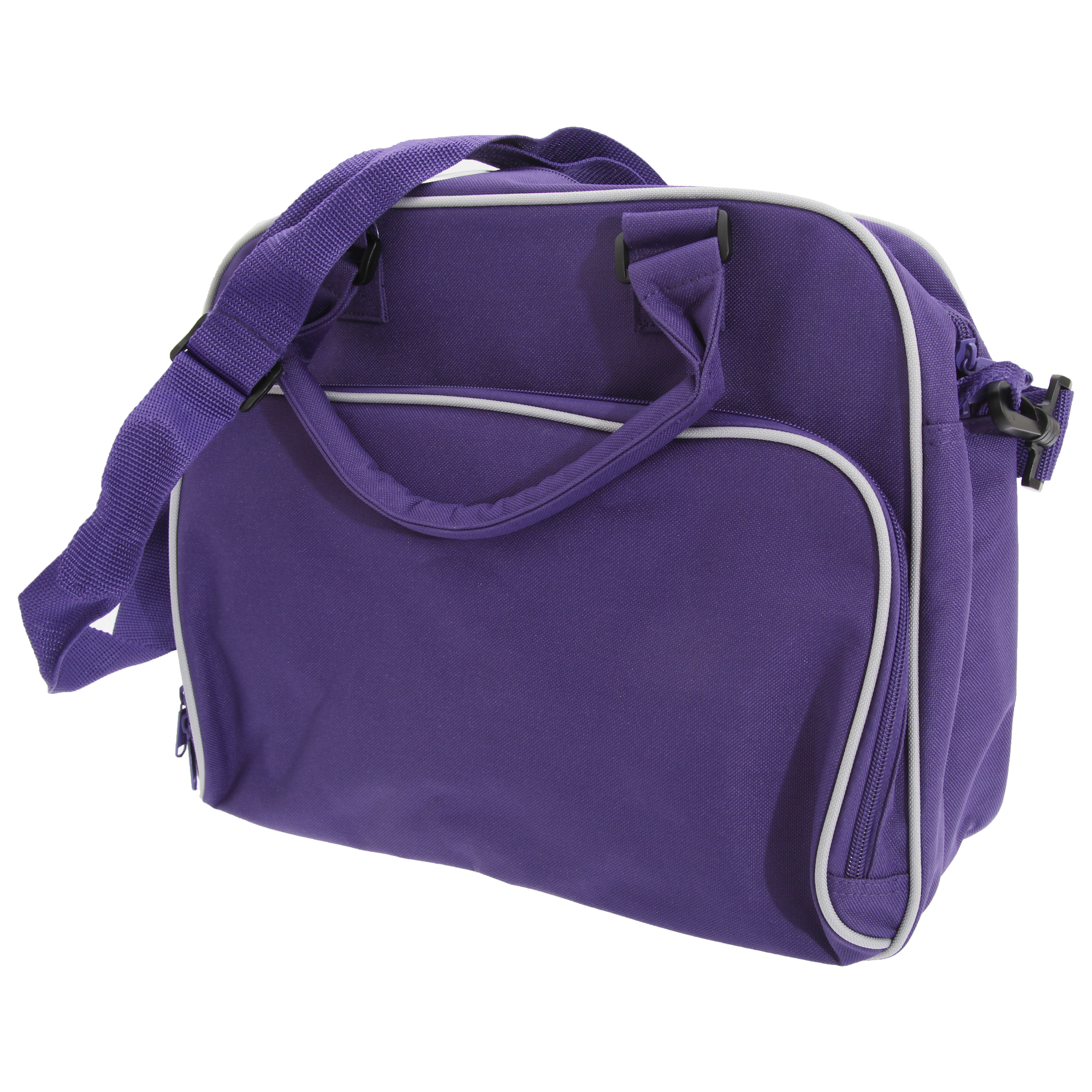 Bagbase Compact Junior Dance Messenger Bag (15 Litres) (Pack of 2) (One Size) (Purple/Light Grey)