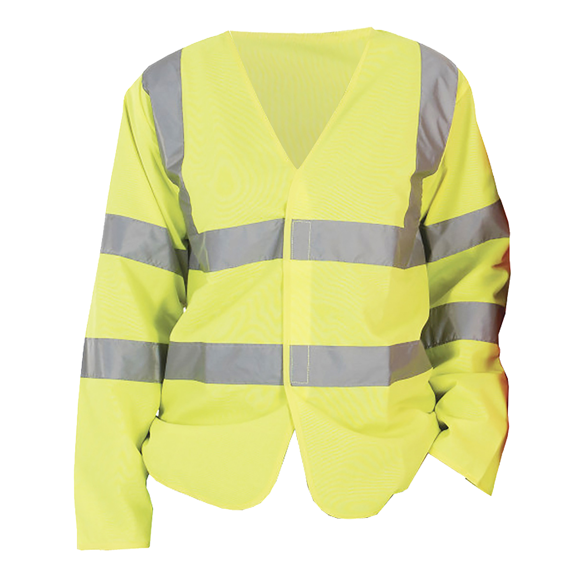 Yoko Mens Hi-Vis Long Sleeve Waistcoat / Jacket (Pack of 2) (L) (Hi-Vis Yellow)