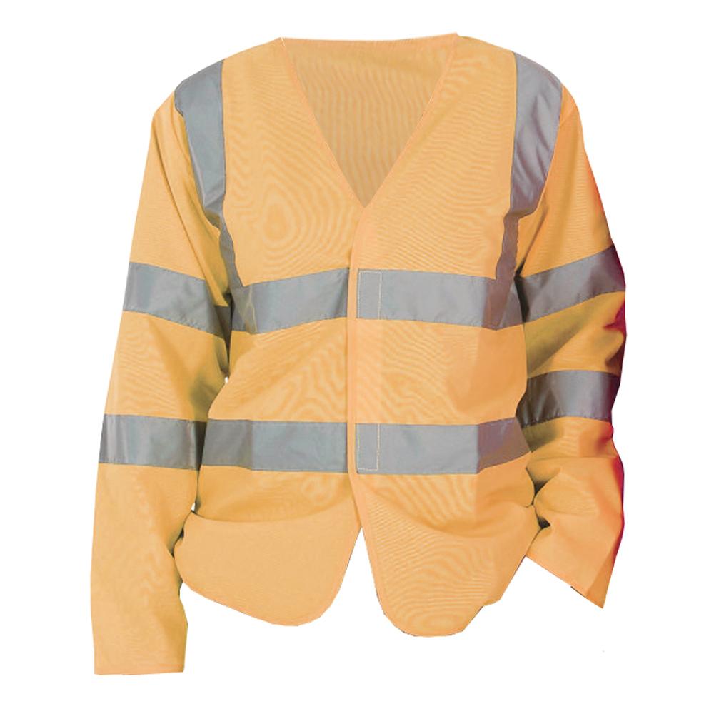 Yoko Mens Hi-Vis Long Sleeve Waistcoat / Jacket (Pack of 2) (3XL) (Hi Vis Orange)