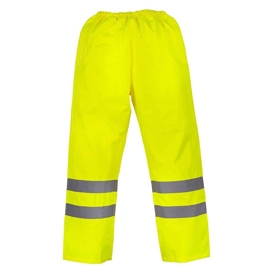 Yoko Mens Hi-Vis Waterproof Contractor Over Trousers (Pack of 2) (M) (Black)