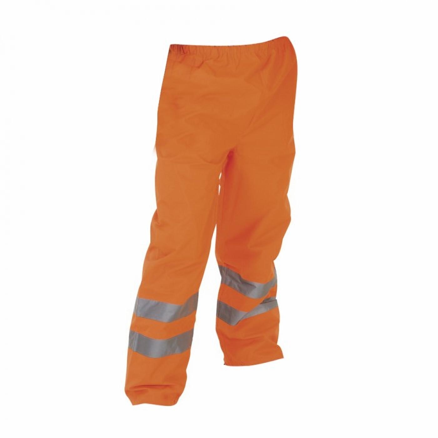Yoko Mens Hi-Vis Waterproof Contractors Trousers / Pants (Pack of 2) (L) (Hi Vis Orange)