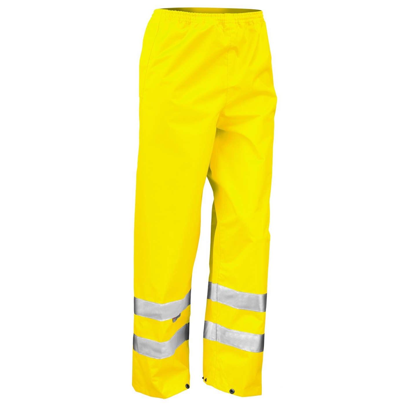 Result Mens Hi-Vis Trousers / Pants (Pack of 2) (2XL) (Hi-Vis Yellow)