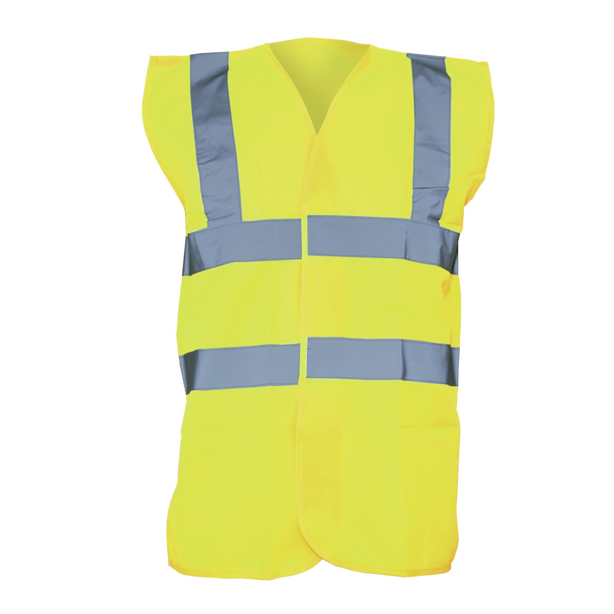 Yoko Unisex Premium Hi-Vis Waistcoat Vest / Jacket (Pack of 2) (4XL) (Hi-Vis Yellow)