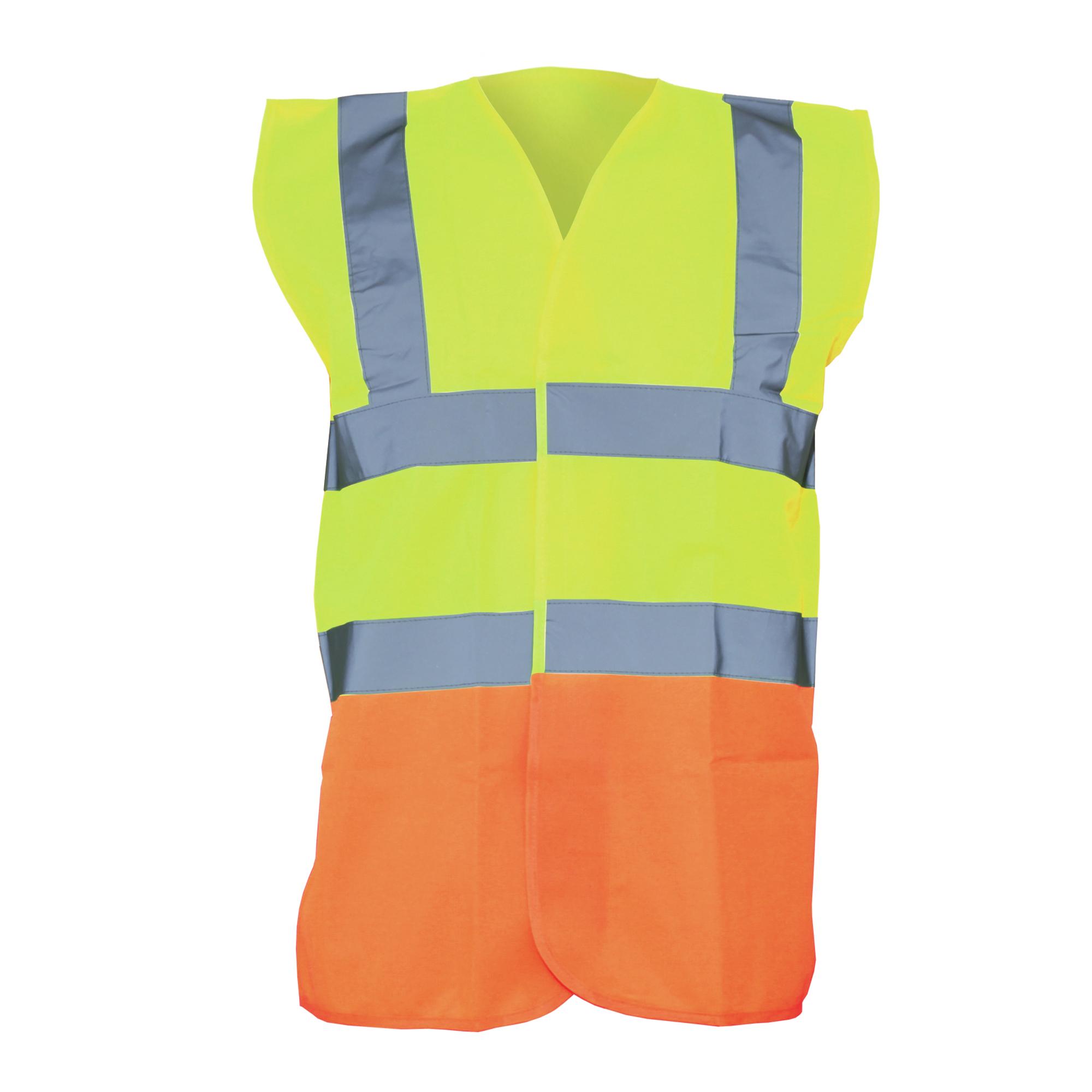 Yoko Unisex Premium Hi-Vis Waistcoat Vest / Jacket (Pack of 2) (S) (Hi Vis Yellow/Orange)
