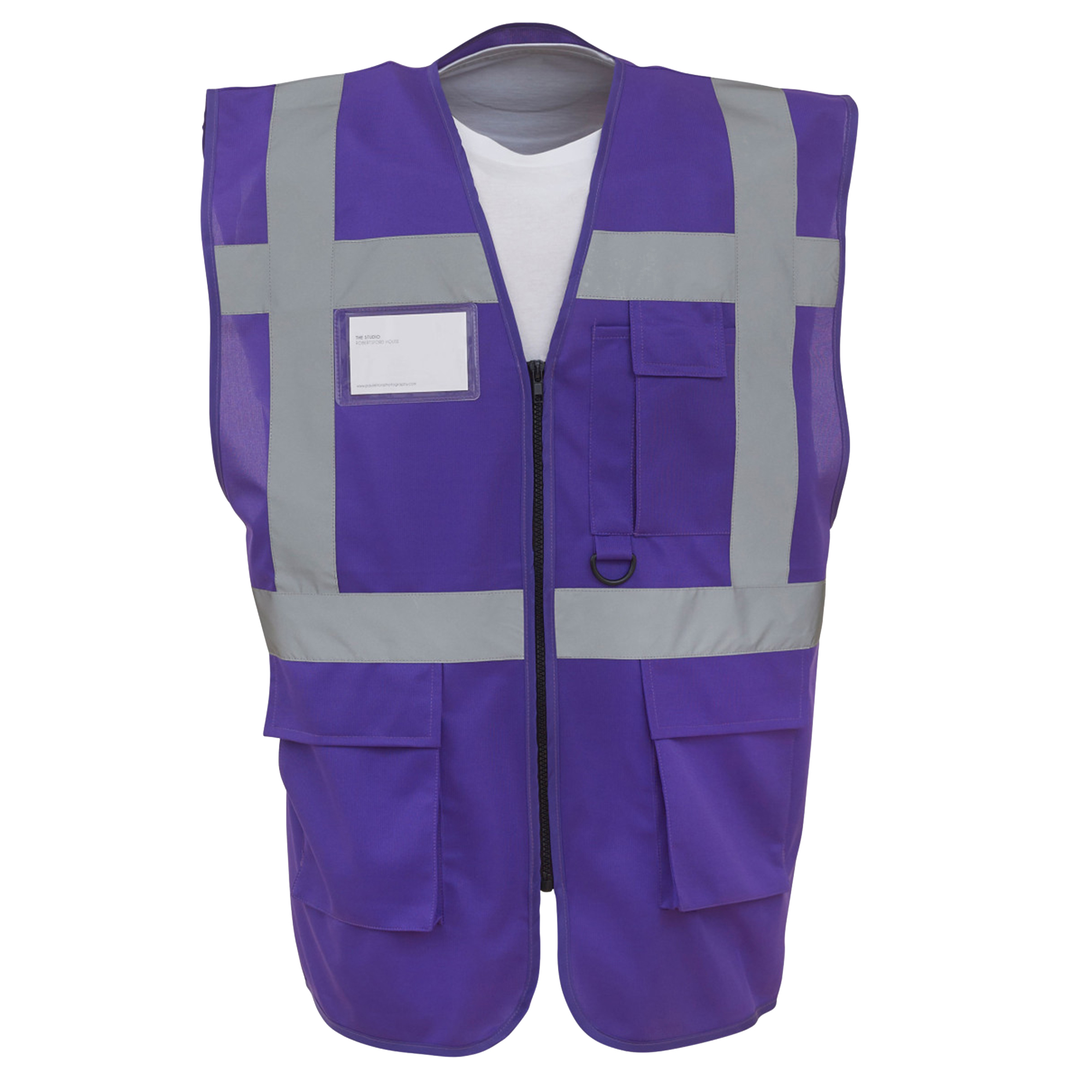 Yoko Hi-Vis Premium Executive/Manager Waistcoat / Jacket (Pack of 2) (2XL) (Purple)