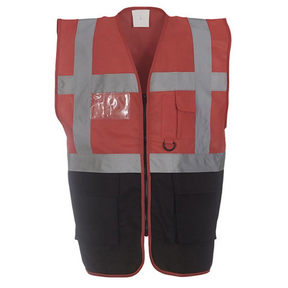 Yoko Hi-Vis Premium Executive/Manager Waistcoat / Jacket (Pack of 2) (XL) (Pink)