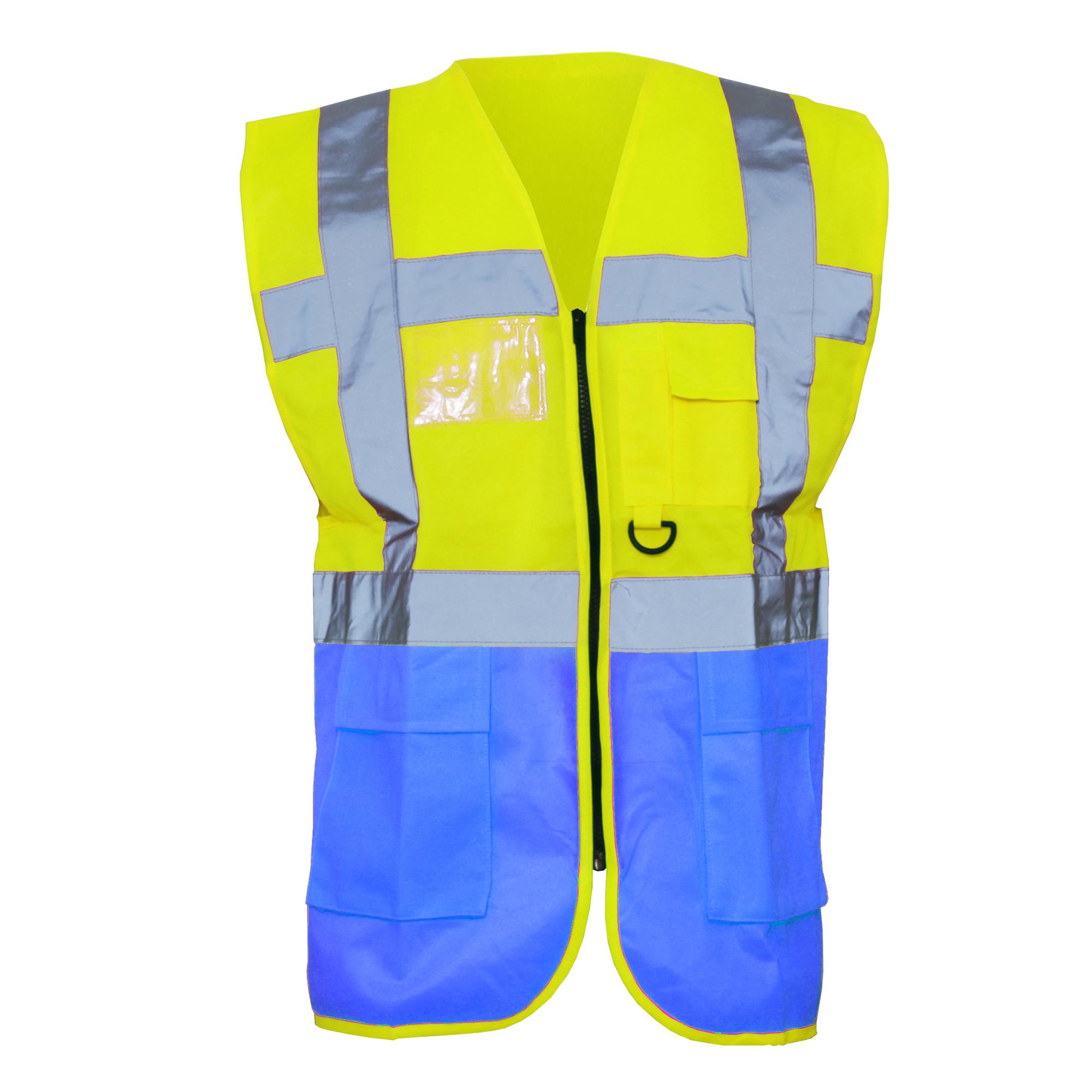 Yoko Hi-Vis Premium Executive/Manager Waistcoat / Jacket (Pack of 2) (3XL) (Green/Hi Vis Yellow)