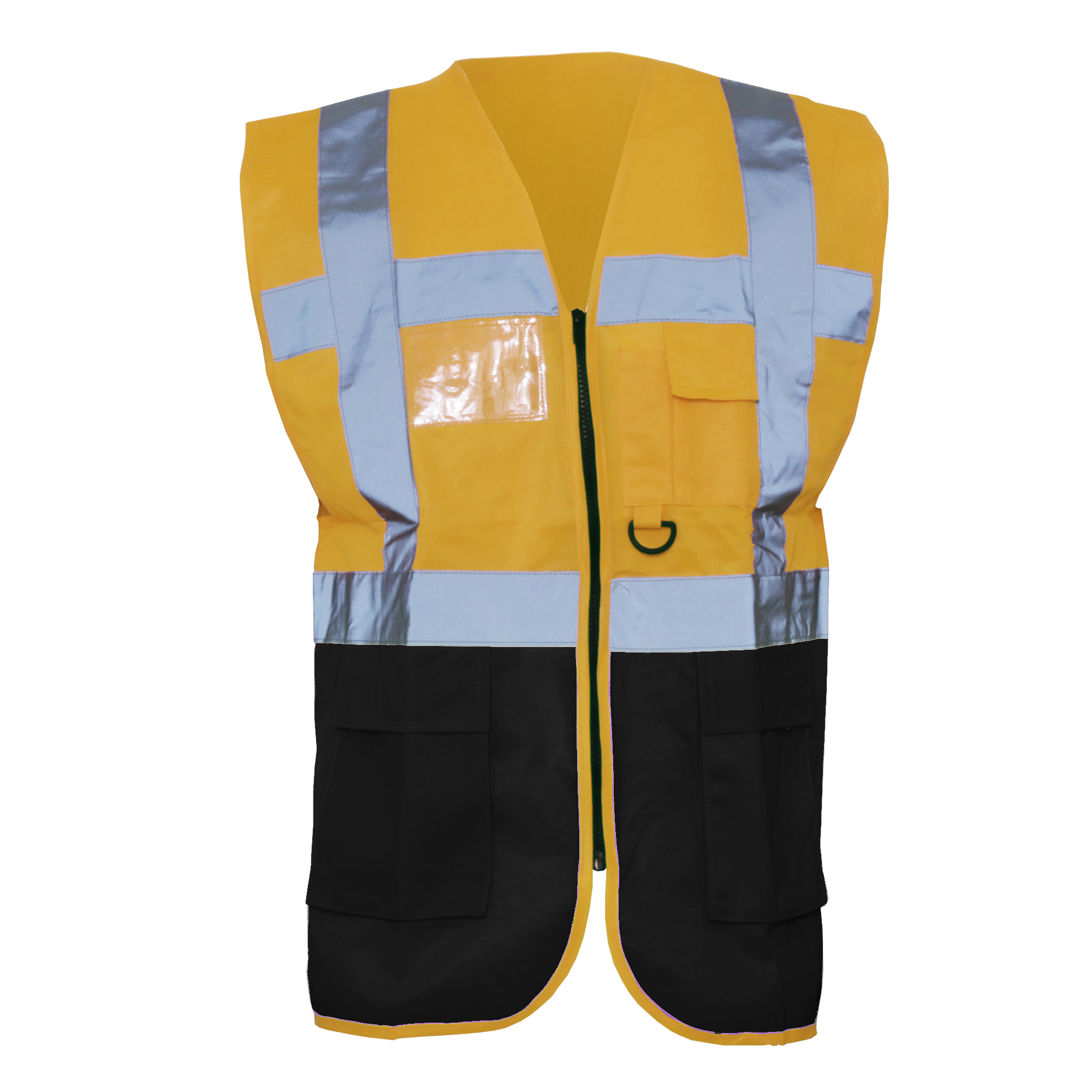 Yoko Hi-Vis Premium Executive/Manager Waistcoat / Jacket (Pack of 2) (2XL) (Orange/Black)
