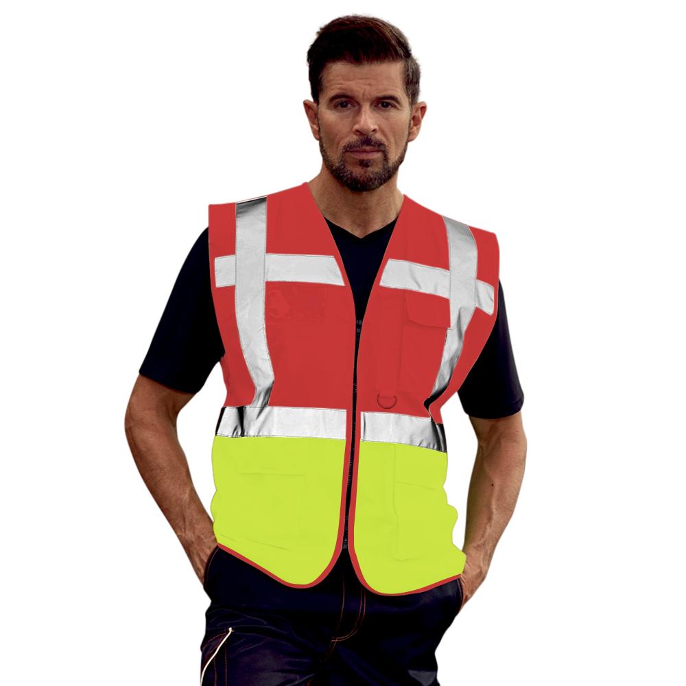 Yoko Hi-Vis Premium Executive/Manager Waistcoat / Jacket (Pack of 2) (3XL) (Sky Blue)