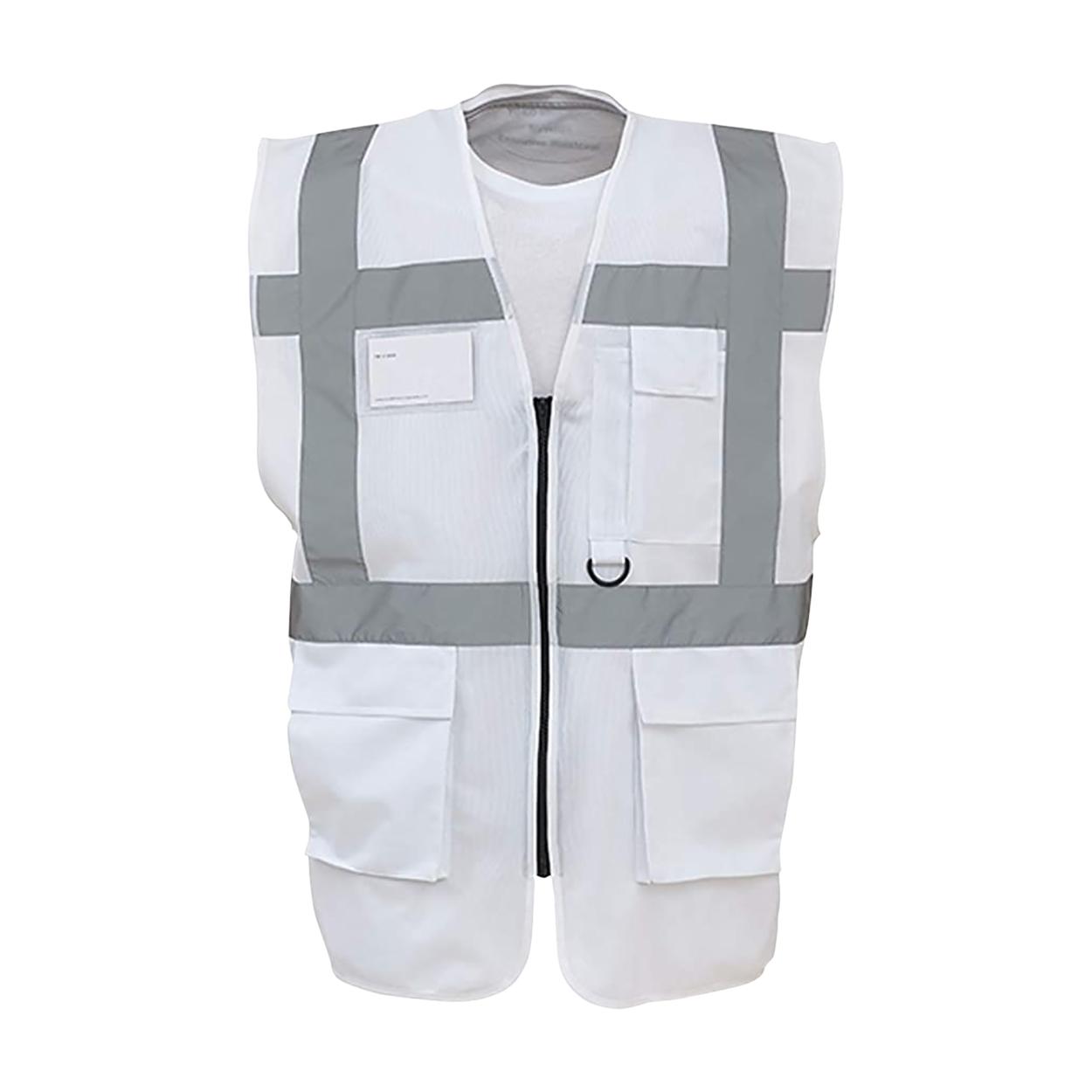 Yoko Hi-Vis Premium Executive/Manager Waistcoat / Jacket (Pack of 2) (S) (White)