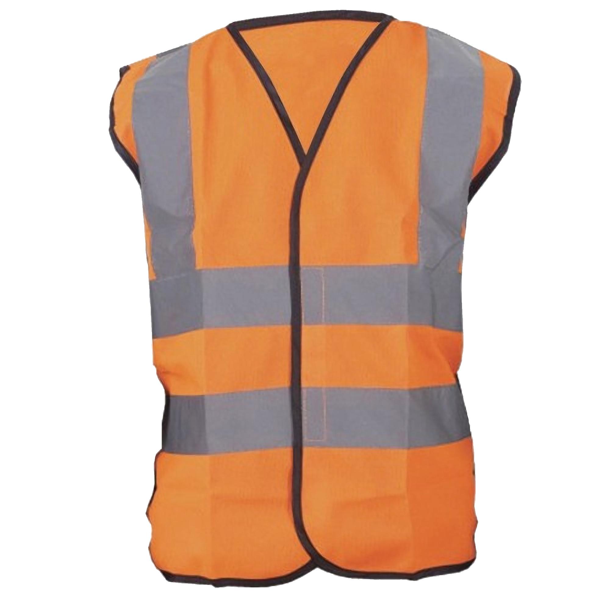 Yoko Hi-Vis Childrens Unisex Waistcoat / Jacket (Pack of 2) (4-6) (Hi Vis Orange)