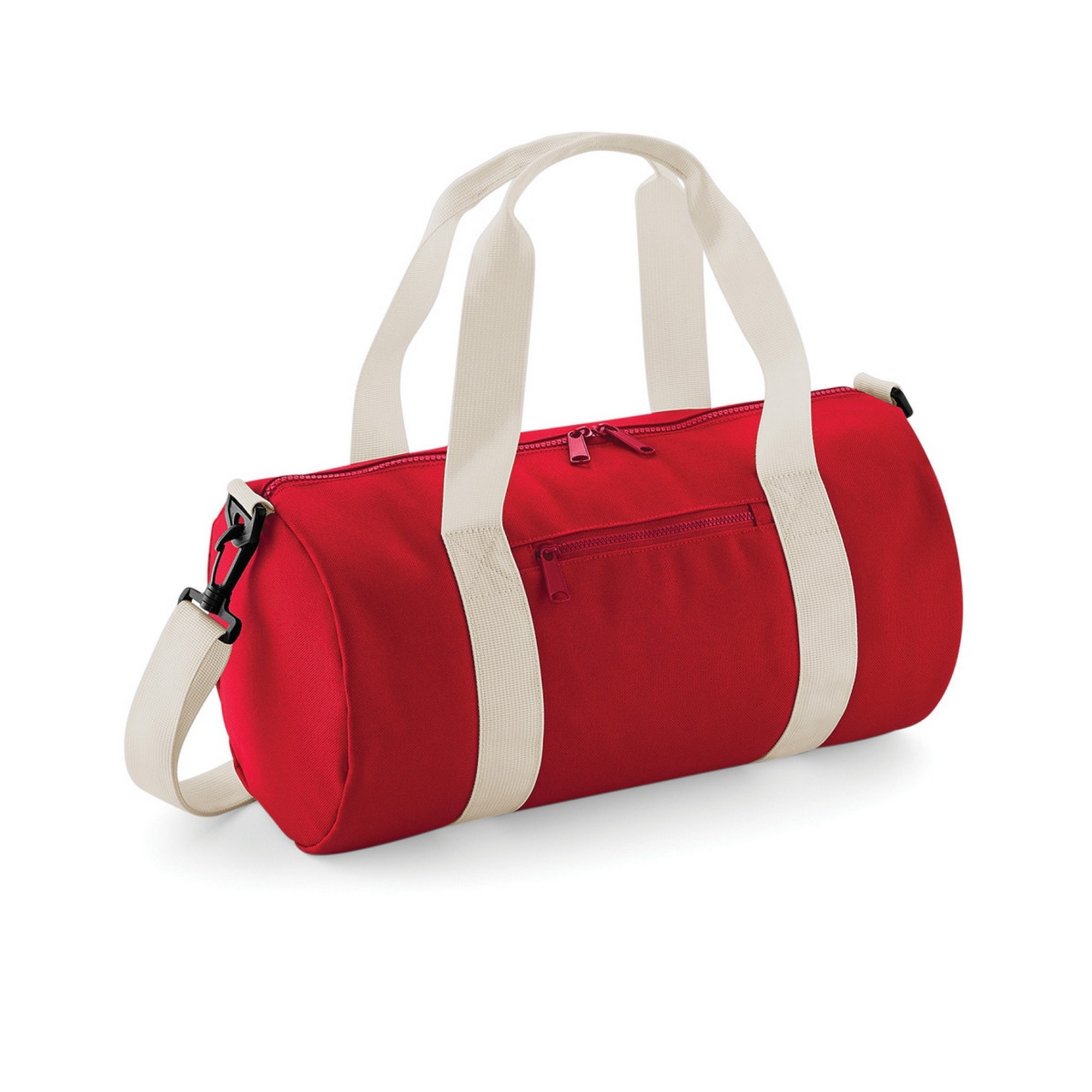Bagbase Mini Barrel Shoulder Bag (Pack of 2) (One Size) (Classic Red/Off White)