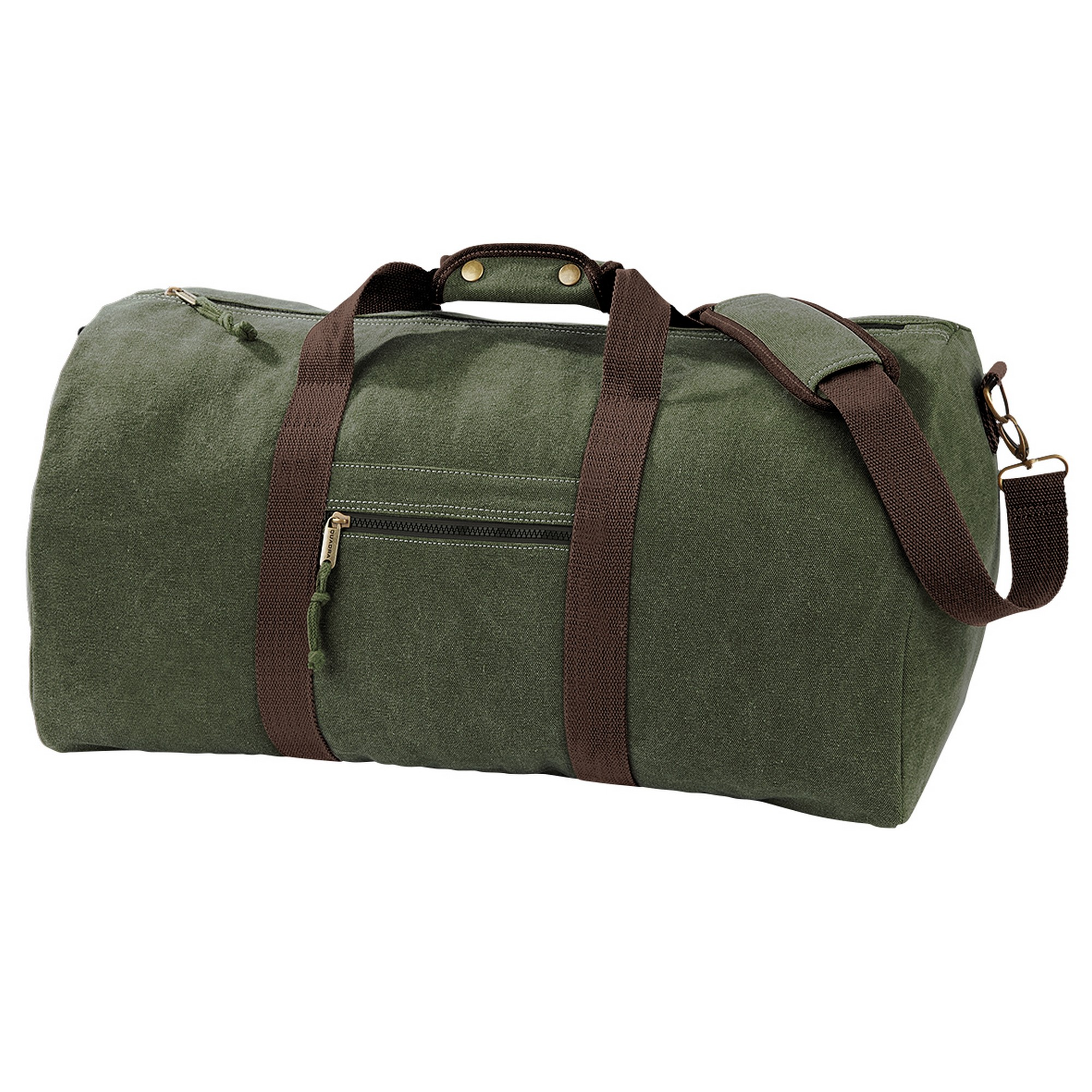 Quadra Vintage Canvas Holdall Duffle Bag - 45 Litres (Pack of 2) (One Size) (Vintage Brown)