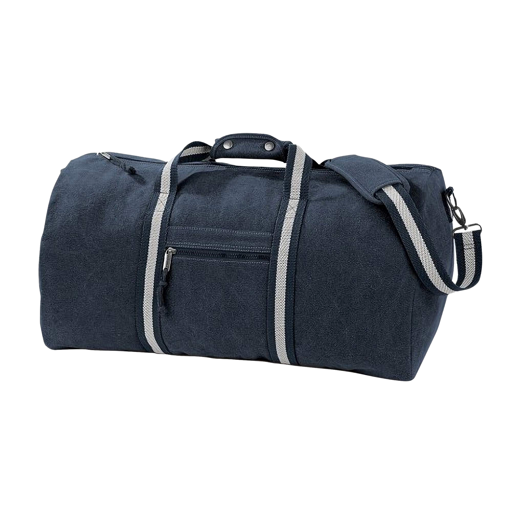 Quadra Vintage Canvas Holdall Duffle Bag - 45 Litres (Pack of 2) (One Size) (Vintage Light Grey)