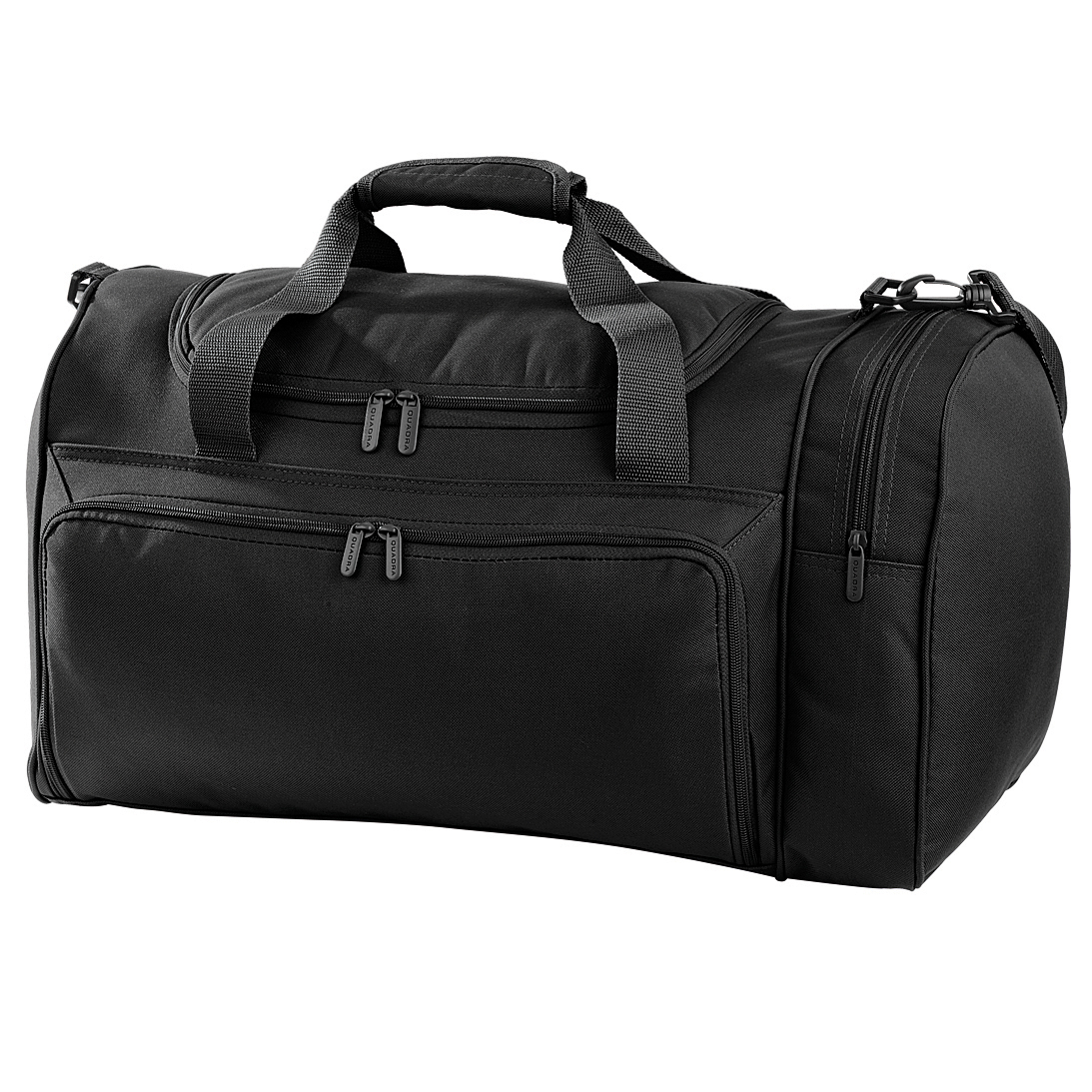 Quadra Universal Holdall Duffle Bag - 35 Litres (Pack of 2) (One Size) (Black)