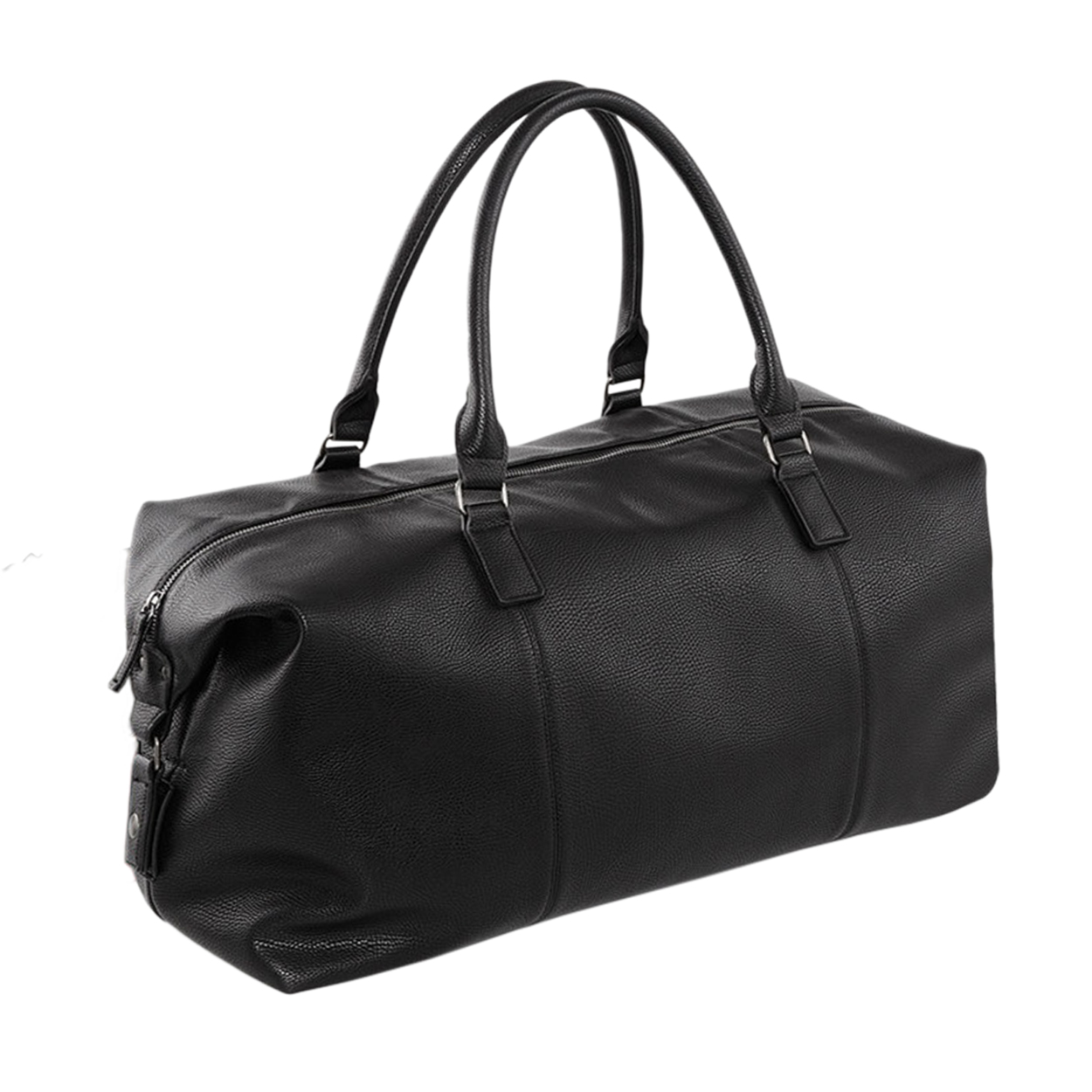 Quadra NuHude Faux Leather Weekender Holdall Bag (Pack of 2) (One Size) (Black)