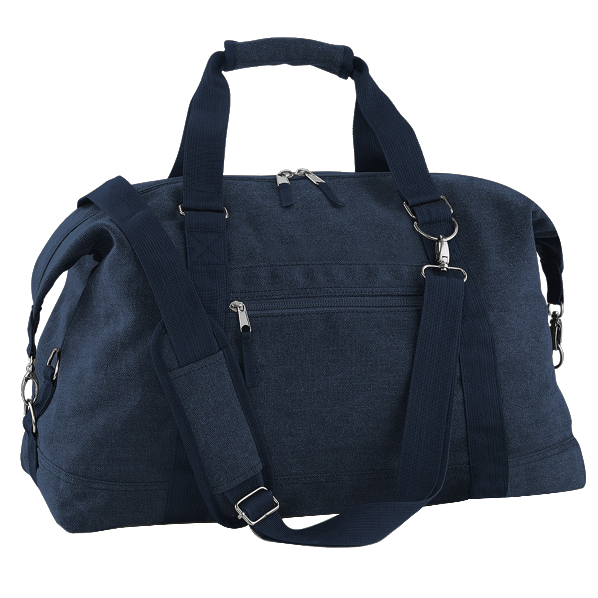 Bagbase Vintage Canvas Weekender / Holdall Carry Bag (30 Litres) (Pack of 2) (One Size) (Vintage Oxford Navy)
